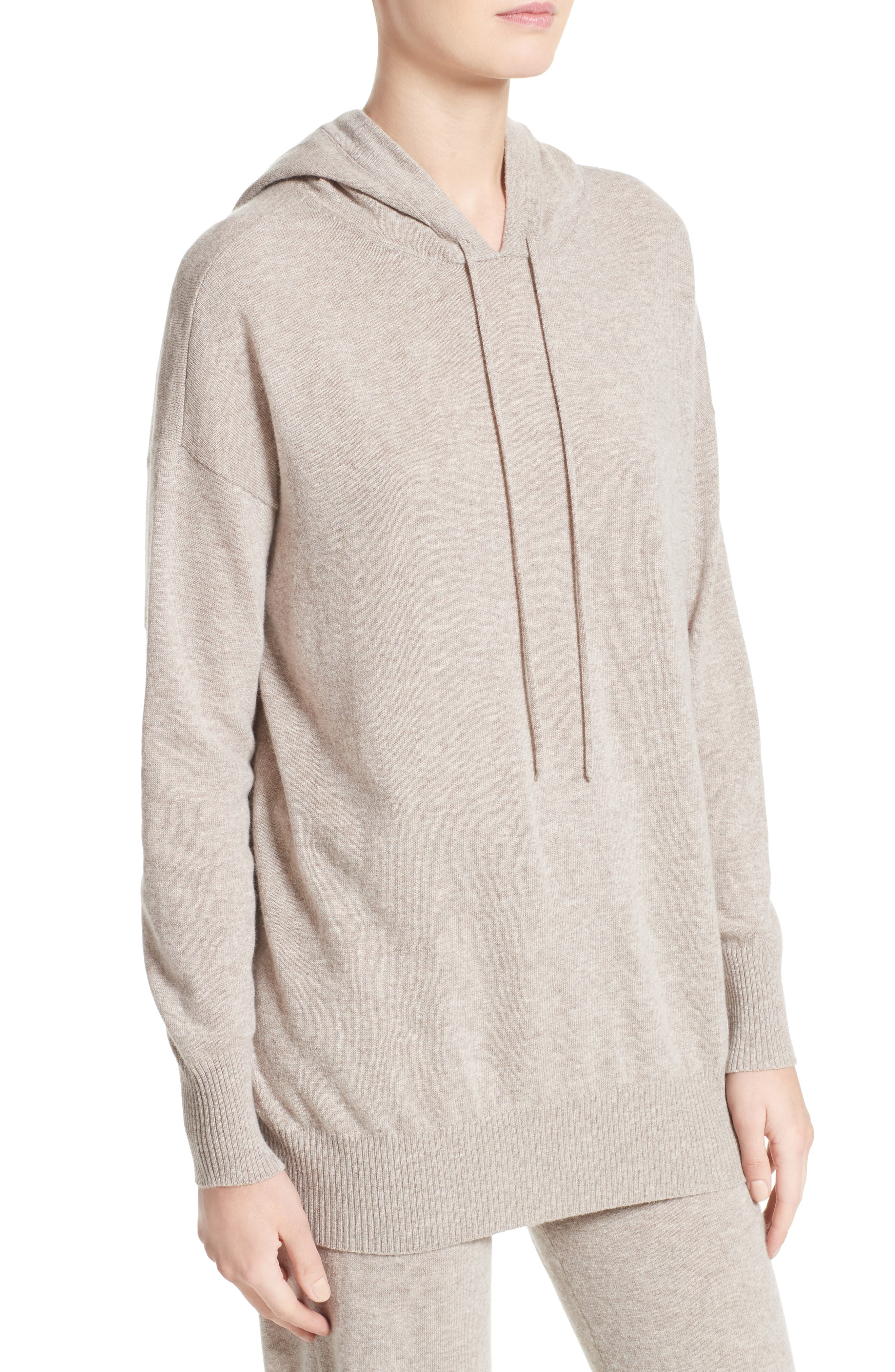 Nitra Wool & Cashmere Hooded Sweater,                             Alternate thumbnail 4, color,