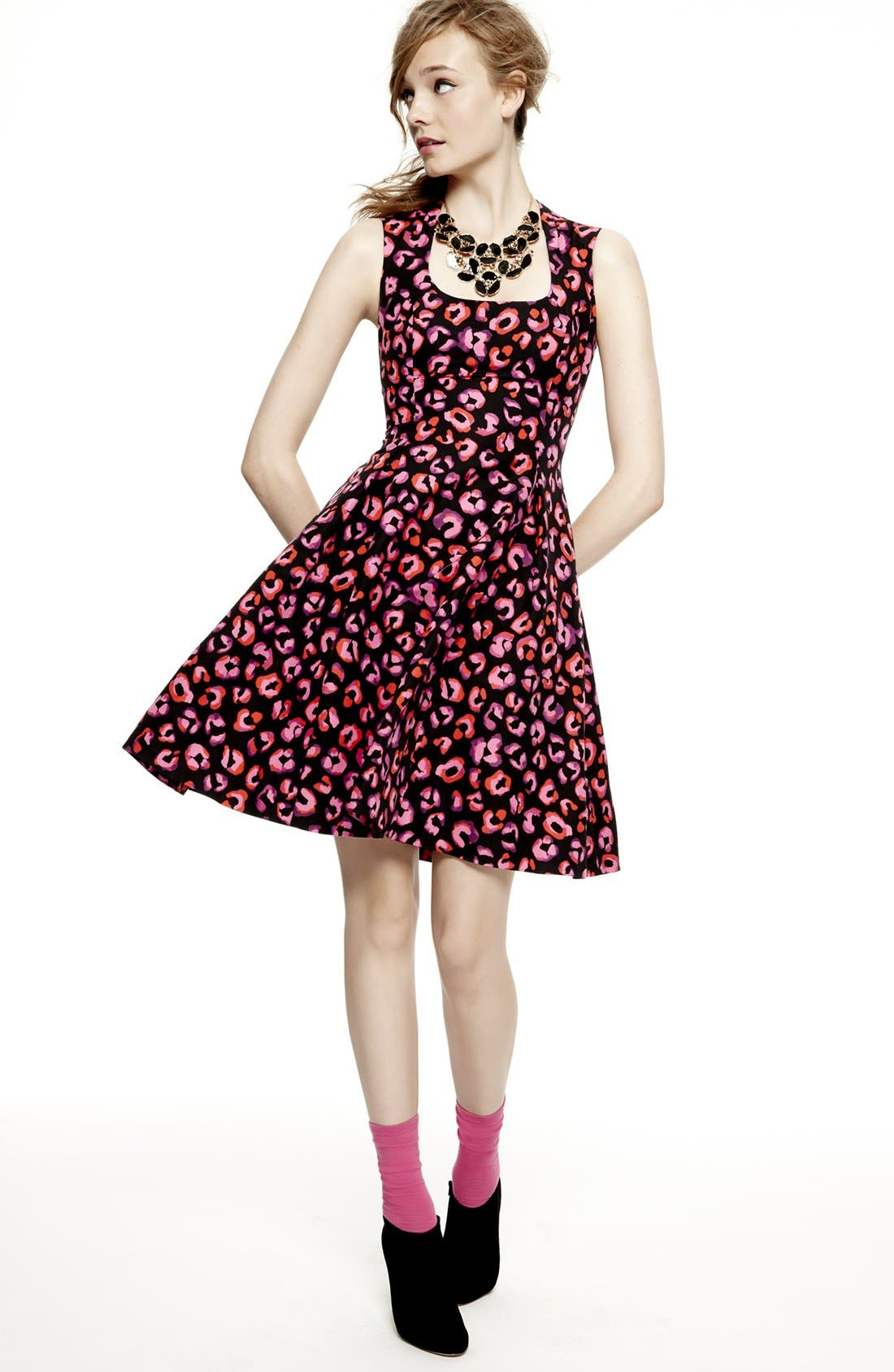 'kimi' cotton & silk a-line dress,                             Alternate thumbnail 5, color,                             683