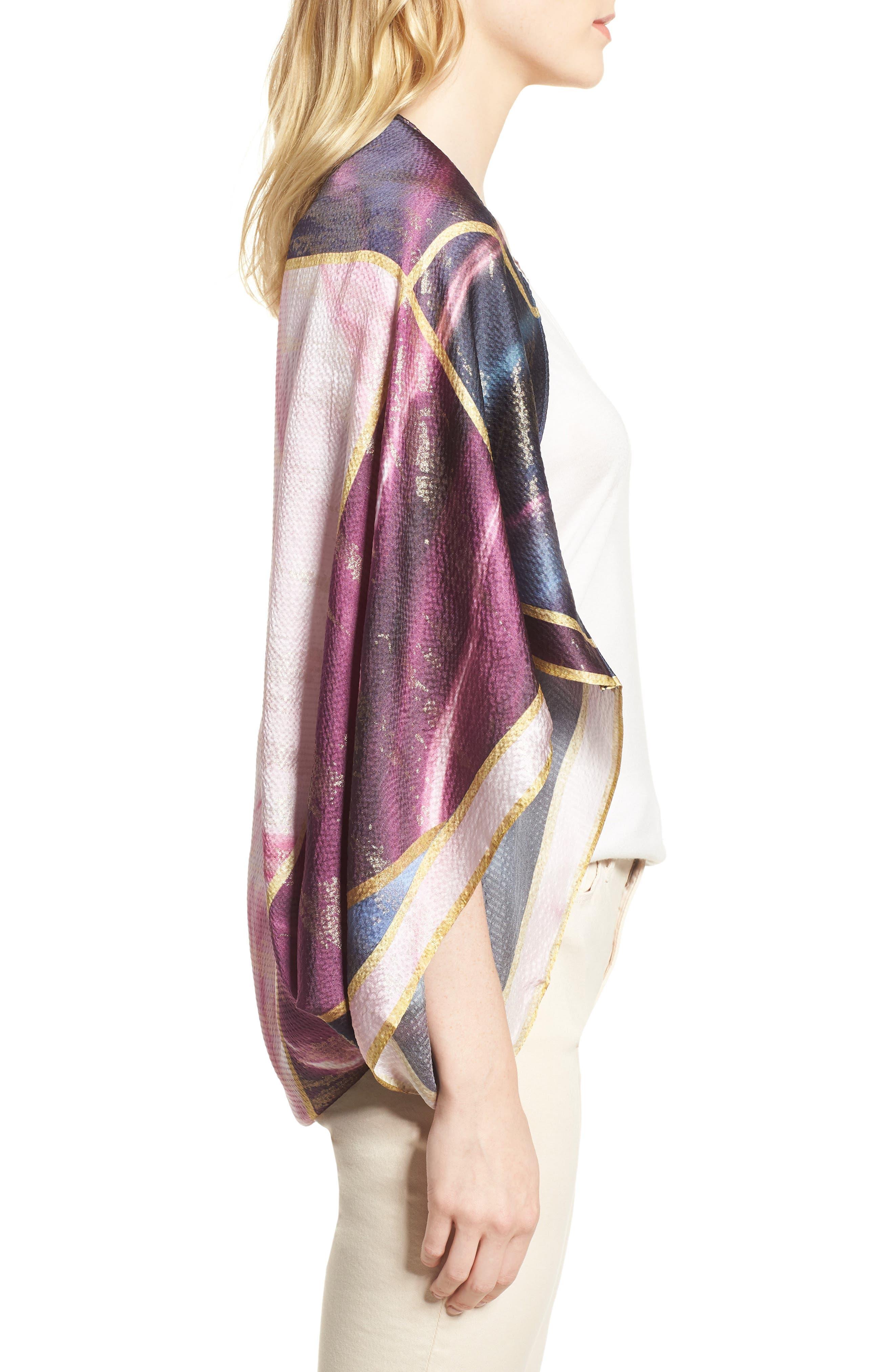 Balmoral Marble Silk Scarf,                             Alternate thumbnail 3, color,