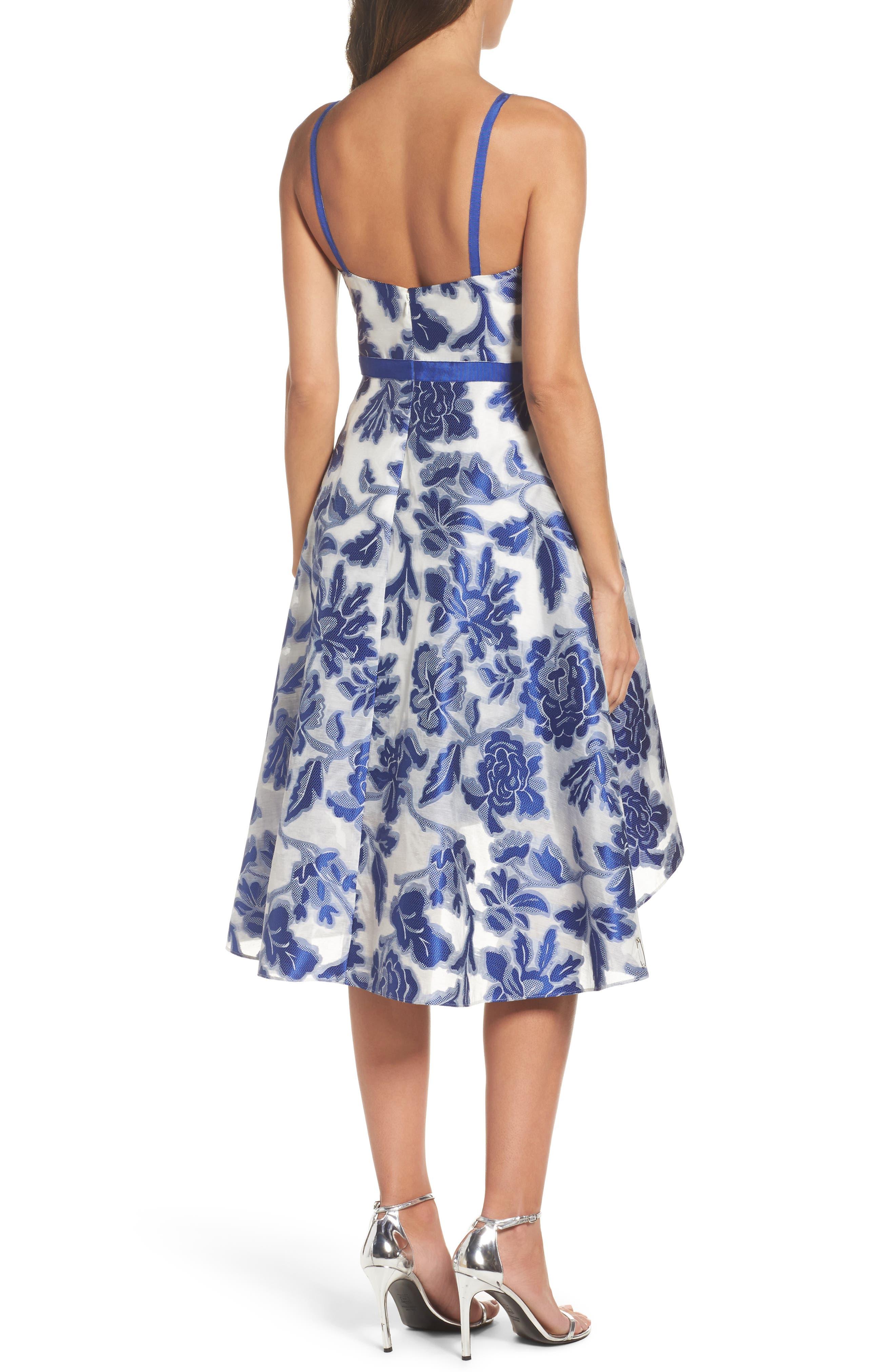 Burnout Jacquard Fit & Flare Dress,                             Alternate thumbnail 2, color,                             480