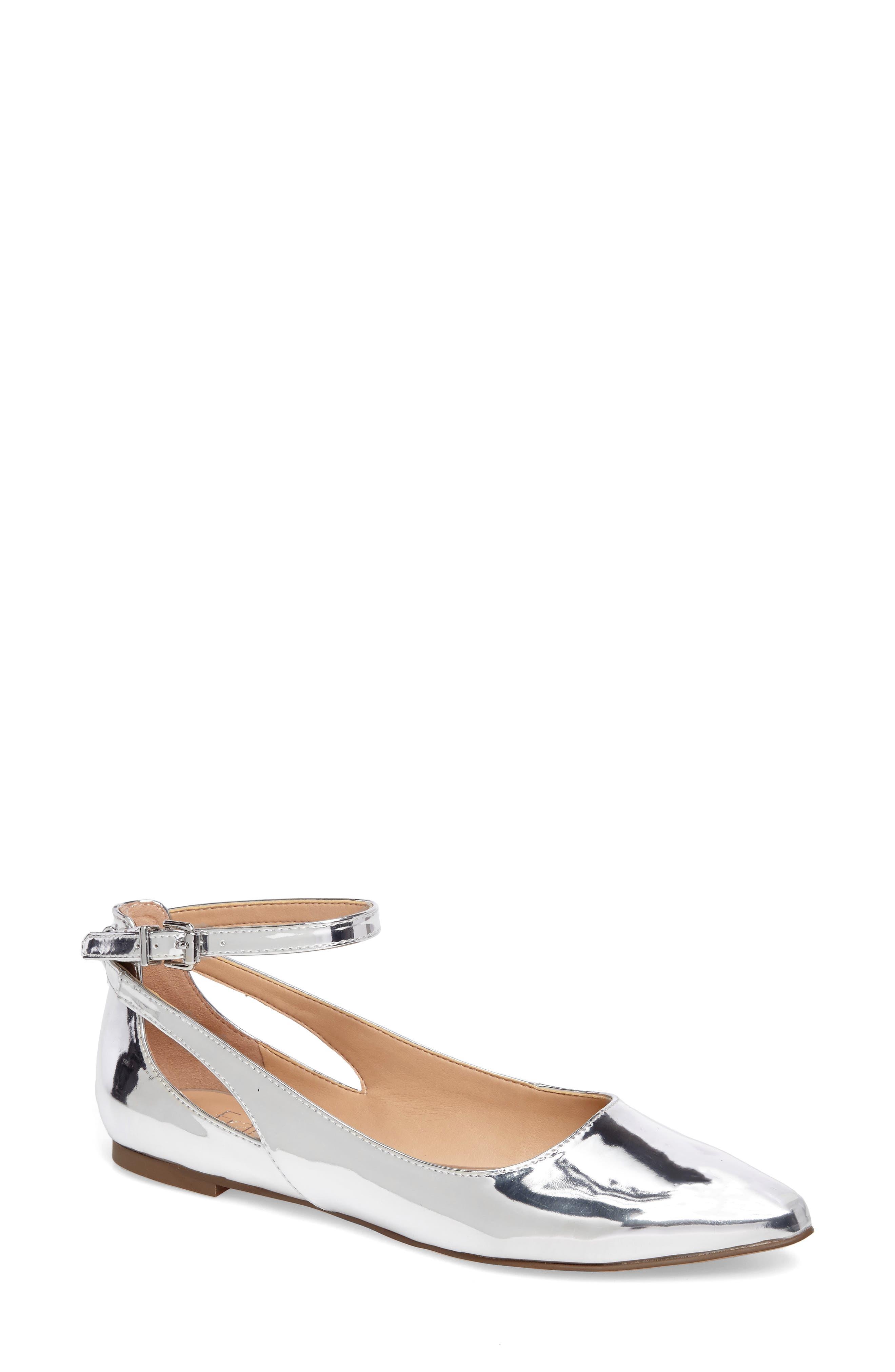 Sylvia Ankle Strap Flat,                             Main thumbnail 1, color,                             040
