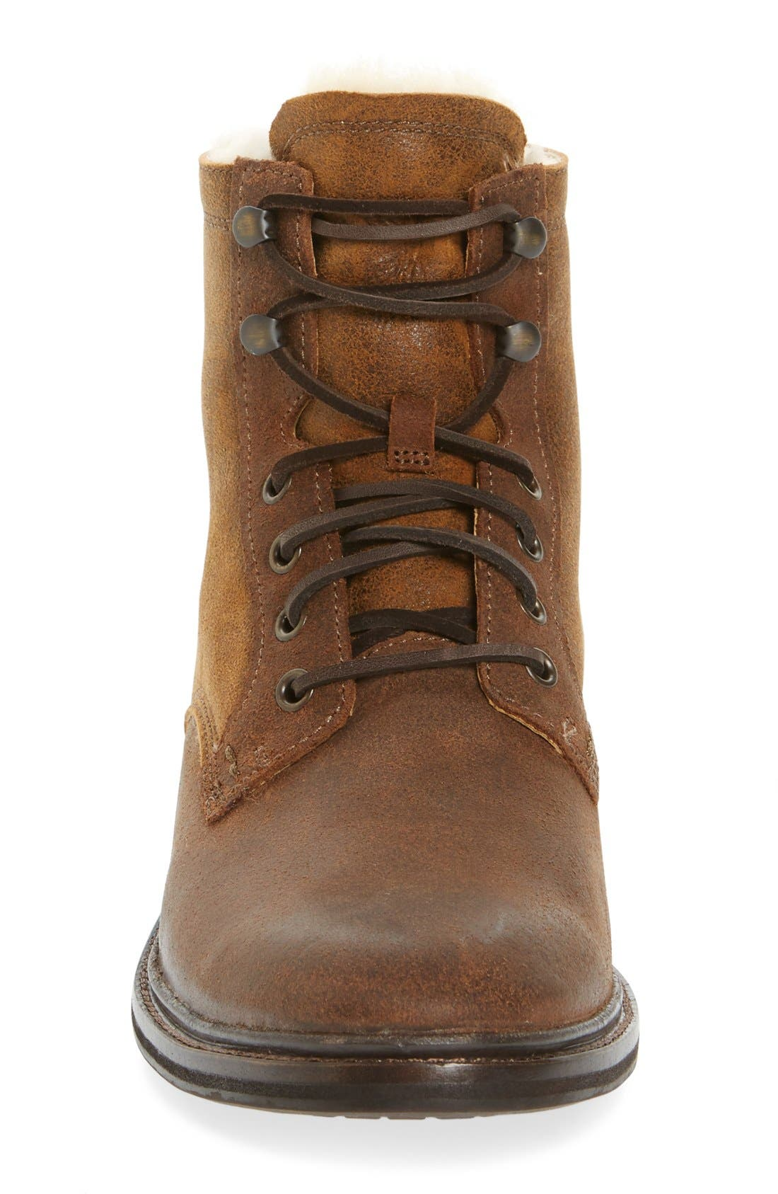 UGG<SUP>®</SUP>,                             Selwood Genuine Shearling Bomber Boot,                             Alternate thumbnail 3, color,                             215