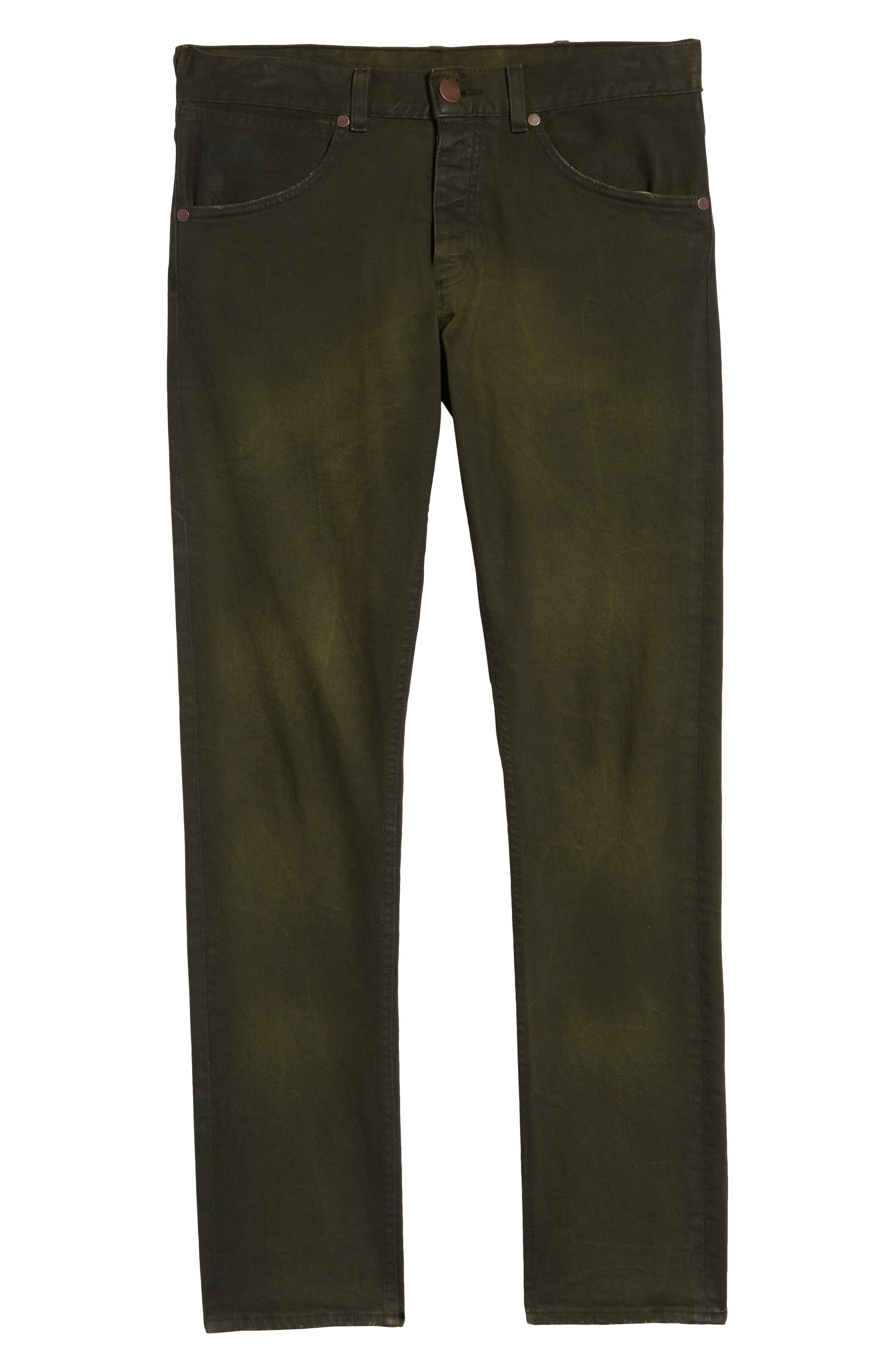 Larston Slim Fit Jeans,                             Alternate thumbnail 6, color,                             ROVER GREEN