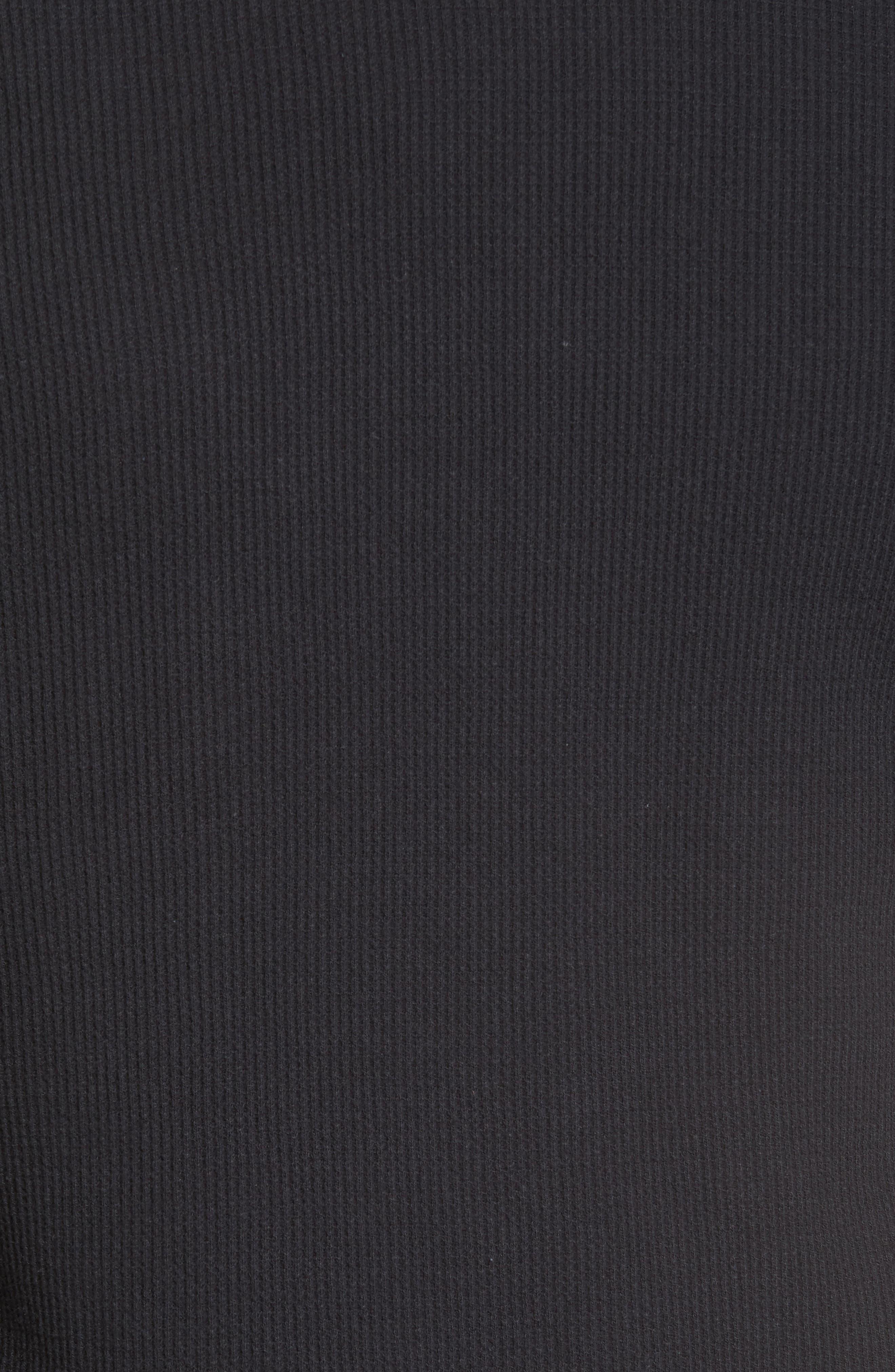 Vista Waffle Knit T-Shirt,                             Alternate thumbnail 5, color,                             001