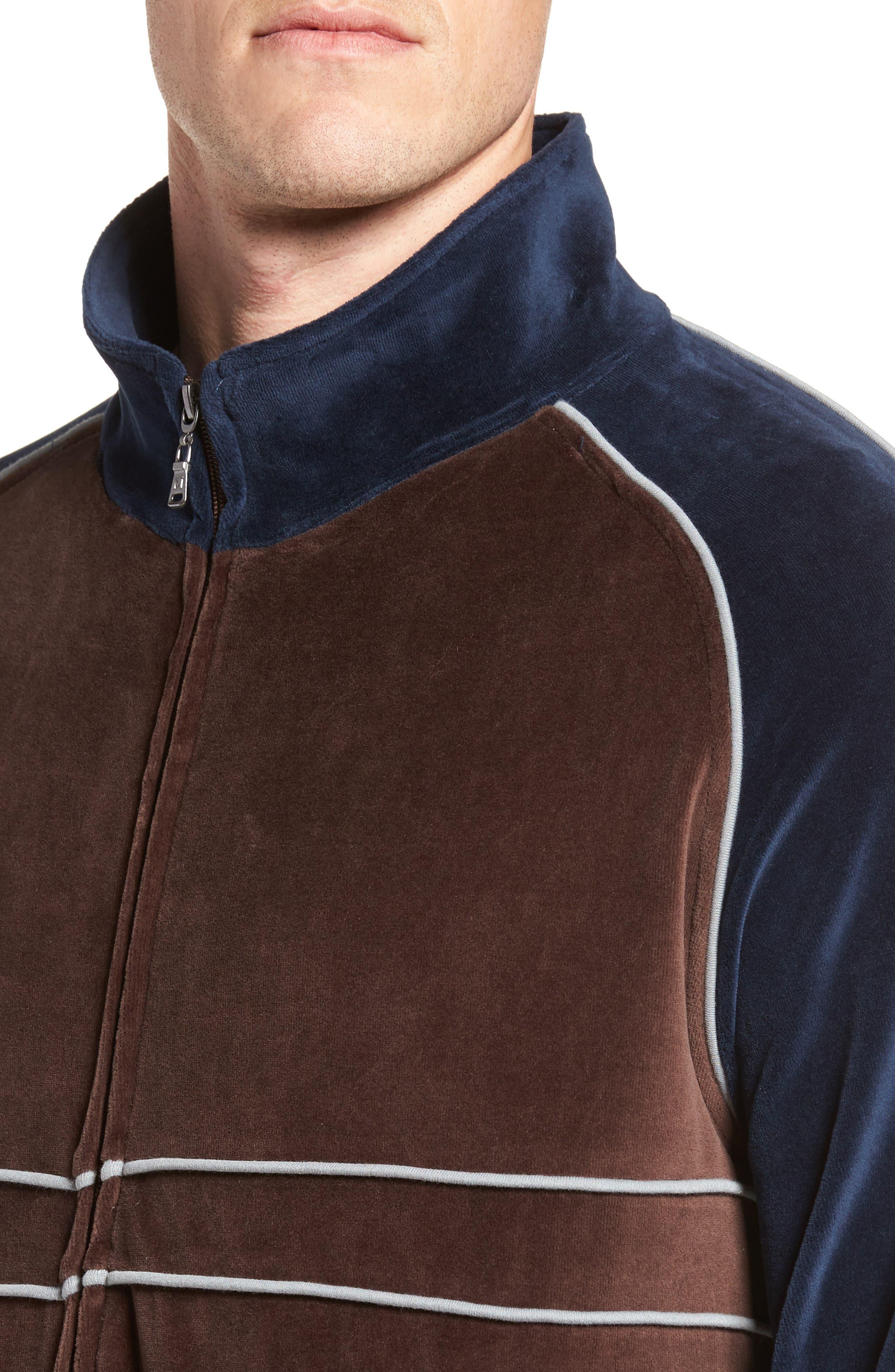 Strathcona Velour Warm-Up Suit,                             Alternate thumbnail 4, color,                             410