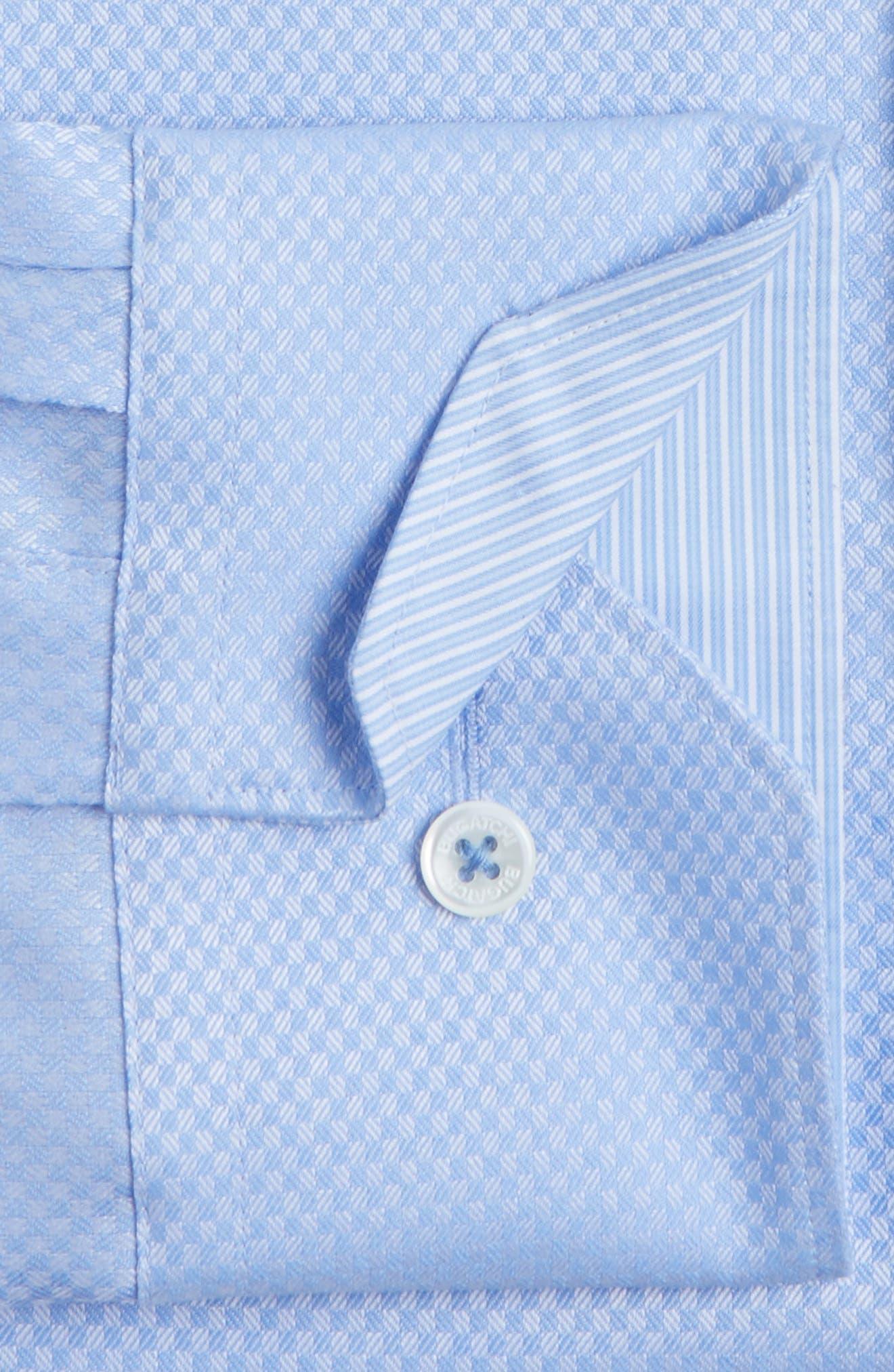 Trim Fit Twill Check Dress Shirt,                             Alternate thumbnail 2, color,                             459