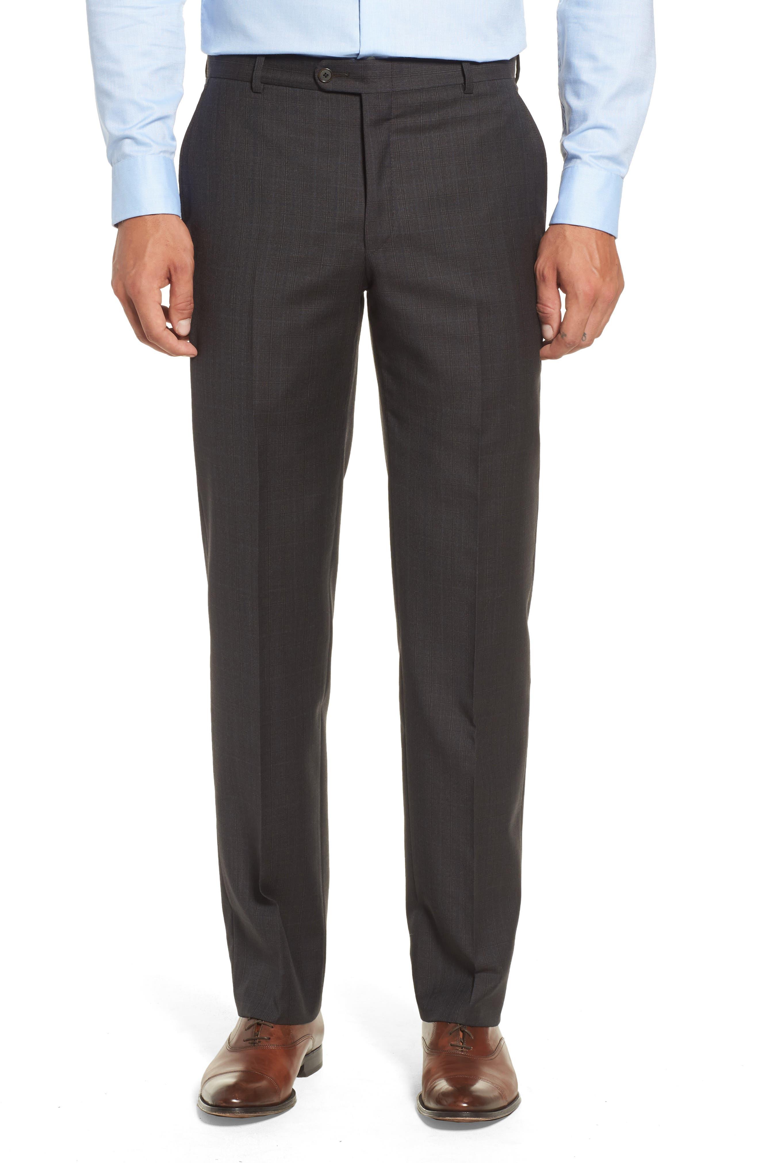 Classic B Fit Check Wool & Cashmere Suit,                             Alternate thumbnail 6, color,                             200