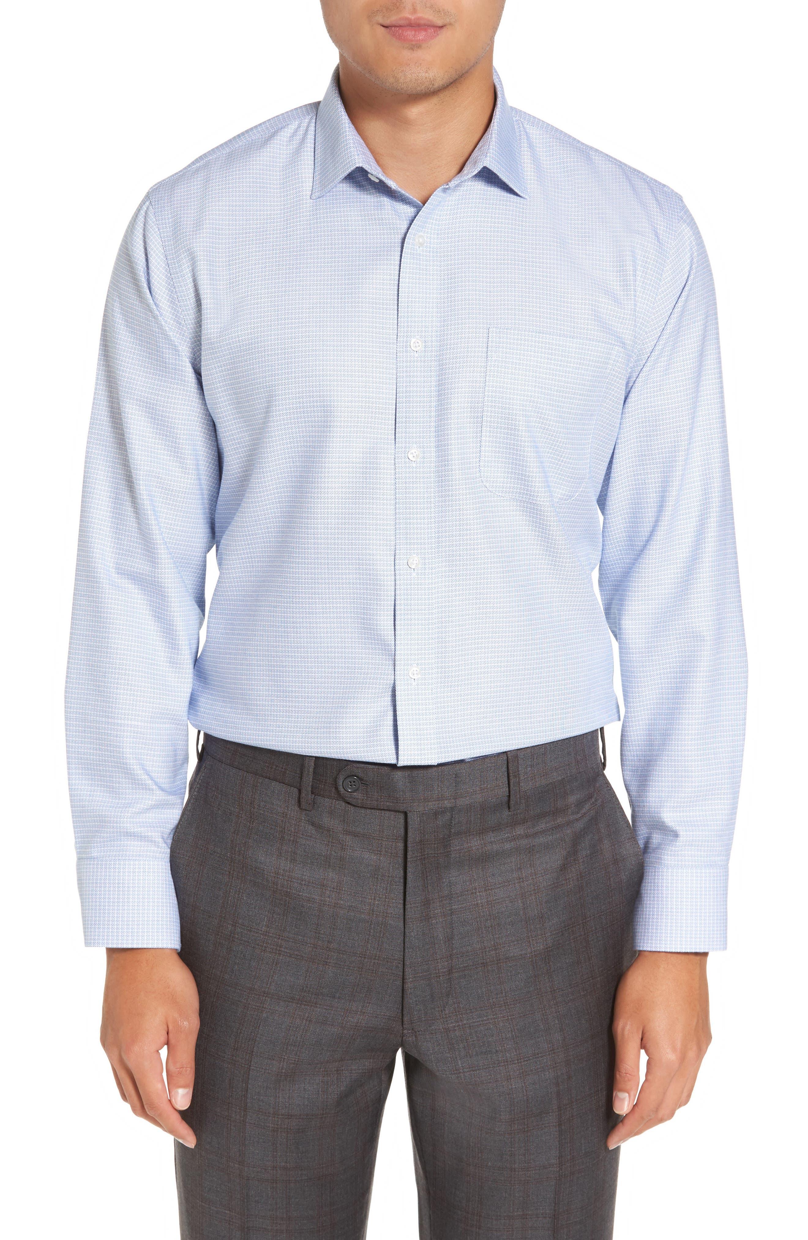 Smartcare<sup>™</sup> Trim Fit Dress Shirt,                         Main,                         color, 450