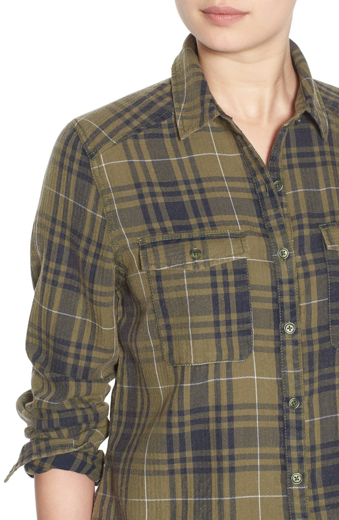 BP.,                             Plaid Shirt,                             Alternate thumbnail 4, color,                             315