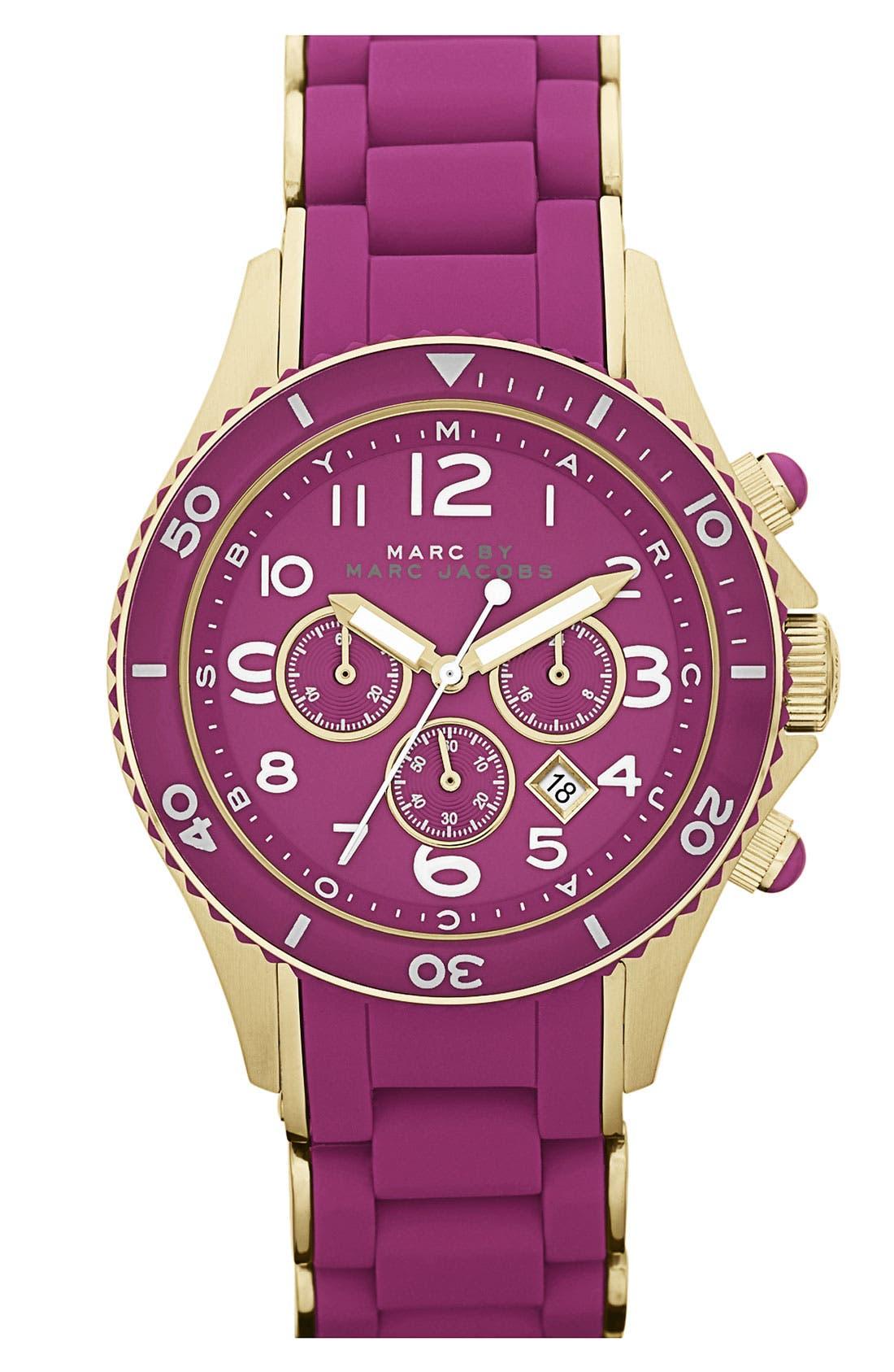 'Rock' Chronograph Silicone Bracelet Watch, 40mm,                             Main thumbnail 14, color,