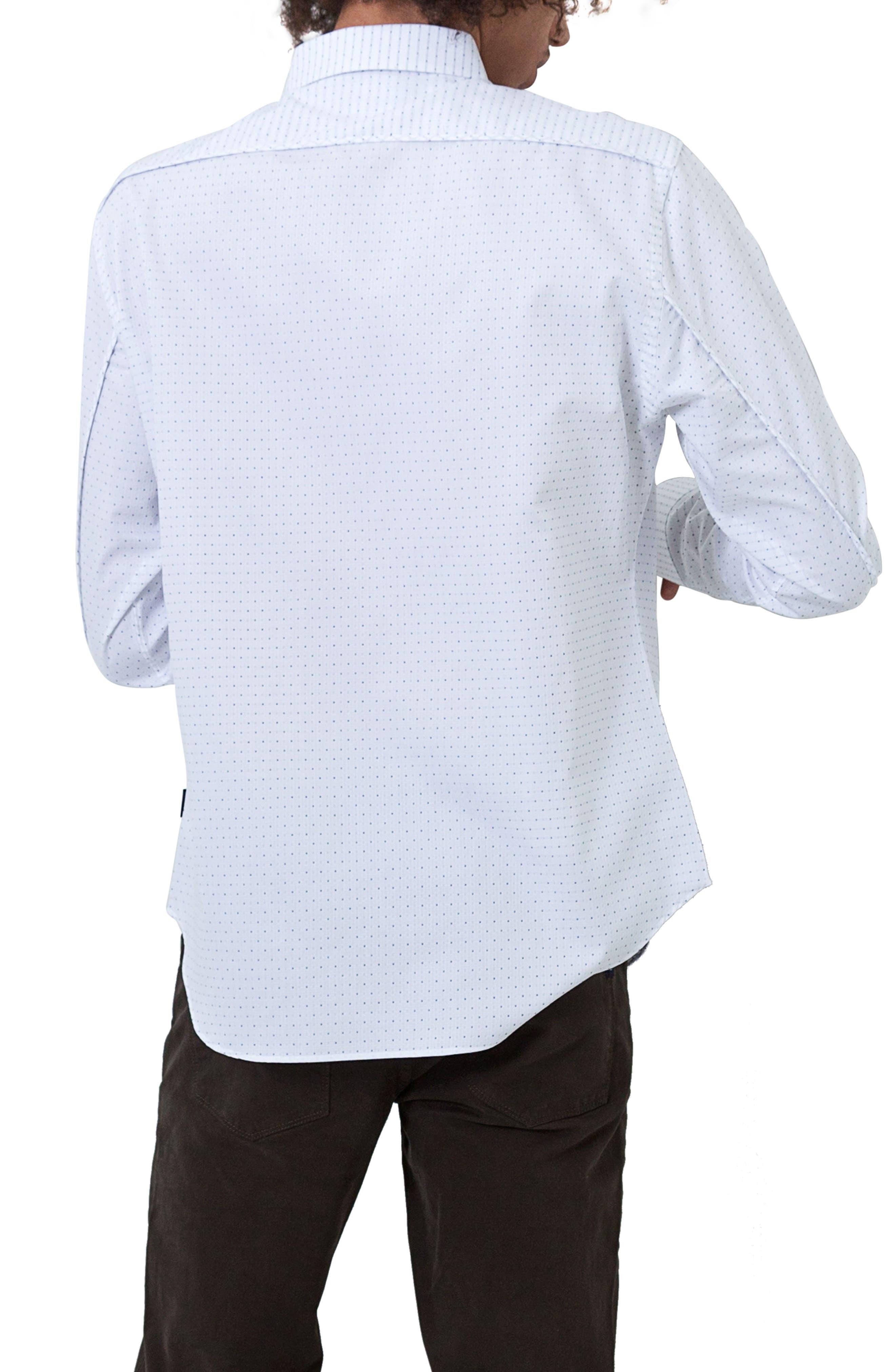Echos Microprint Sport Shirt,                             Alternate thumbnail 2, color,                             100