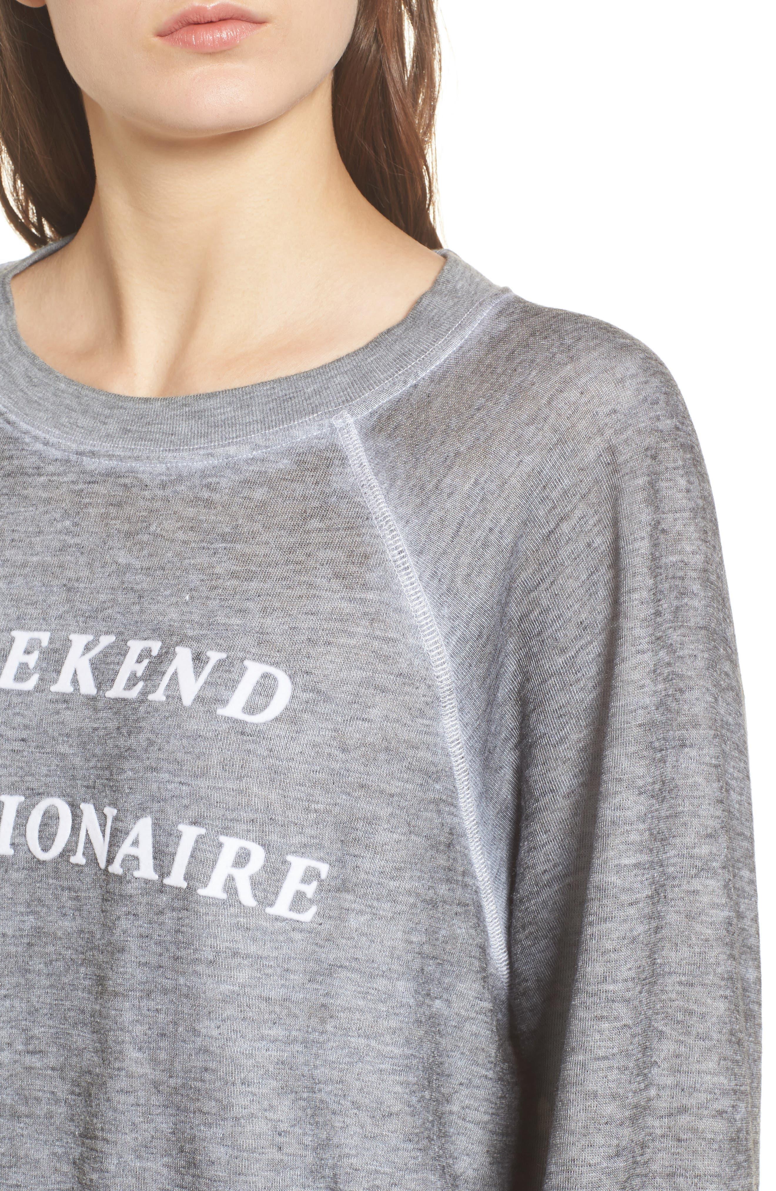 Weekend Millionaire Sweatshirt,                             Alternate thumbnail 4, color,                             020