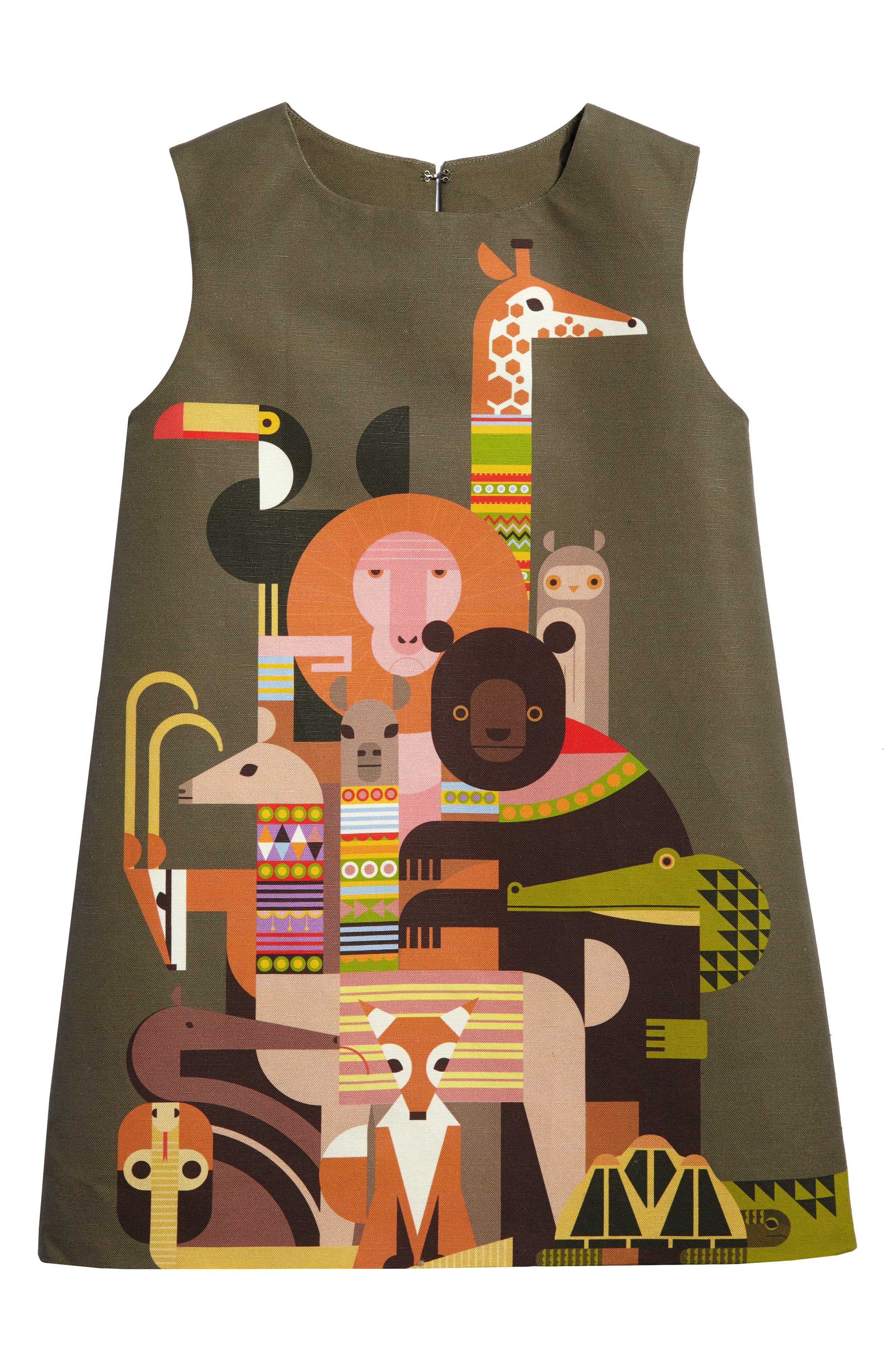 Menagerie A-Line Dress,                             Main thumbnail 1, color,                             300