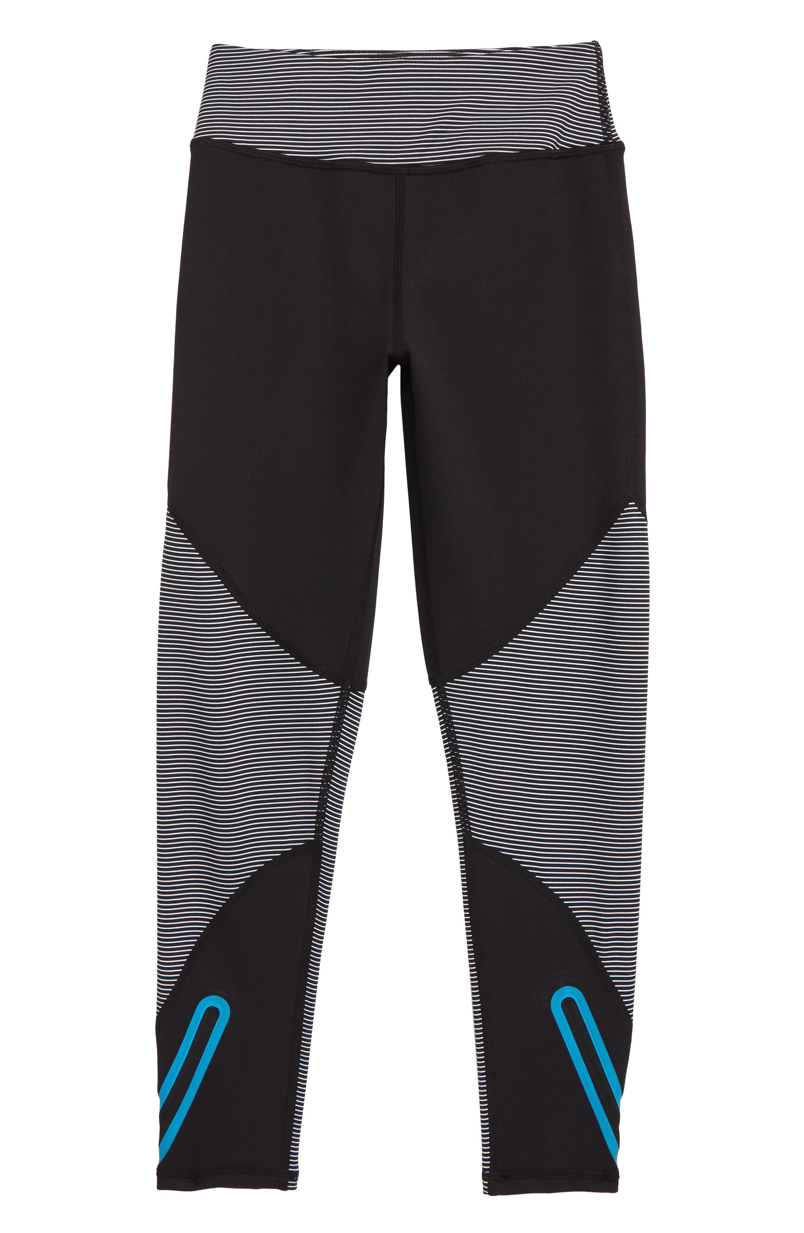 High Waist Zip Leggings, Main, color, 001