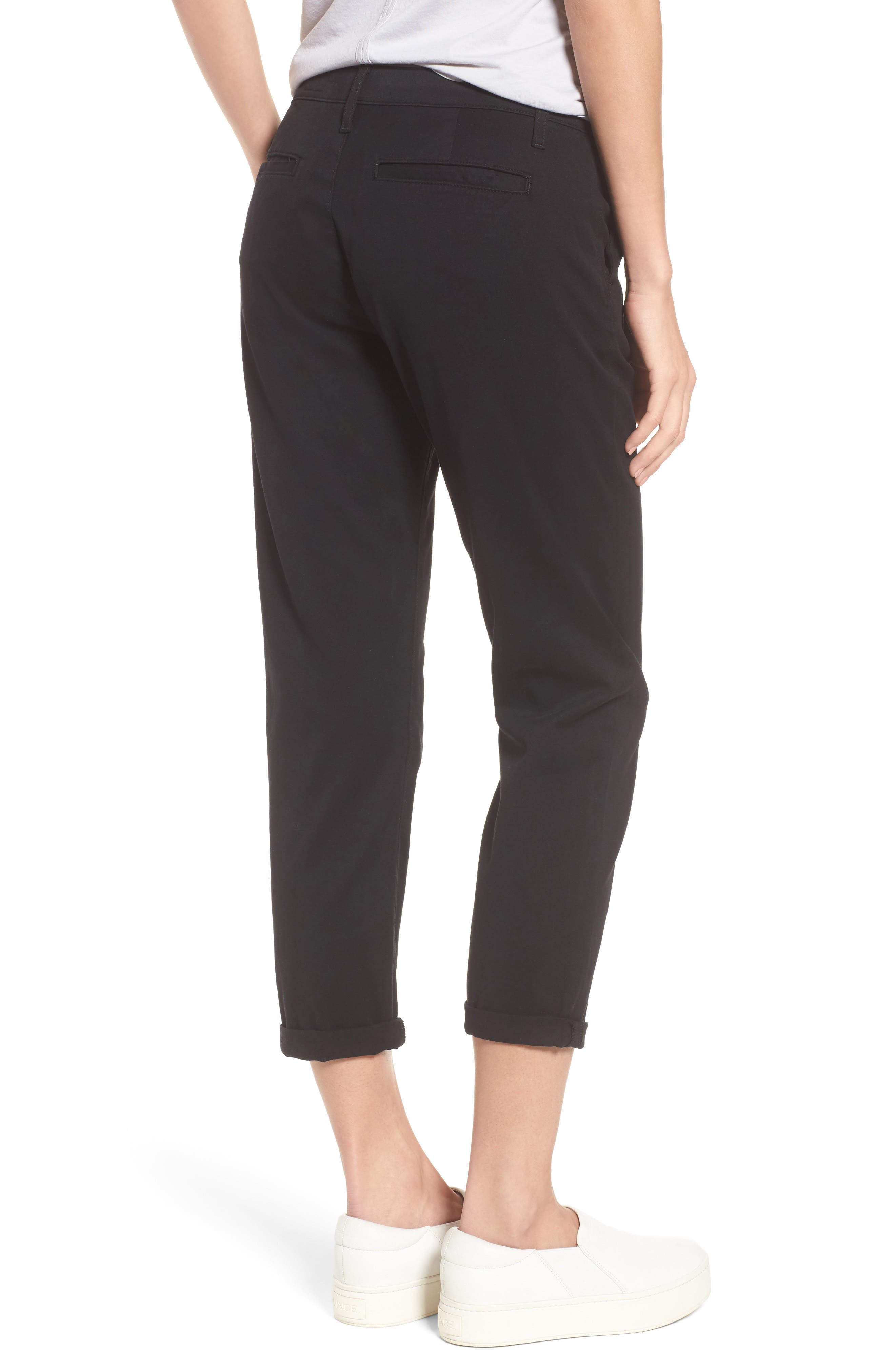 Caden Crop Twill Trousers,                             Alternate thumbnail 2, color,                             010