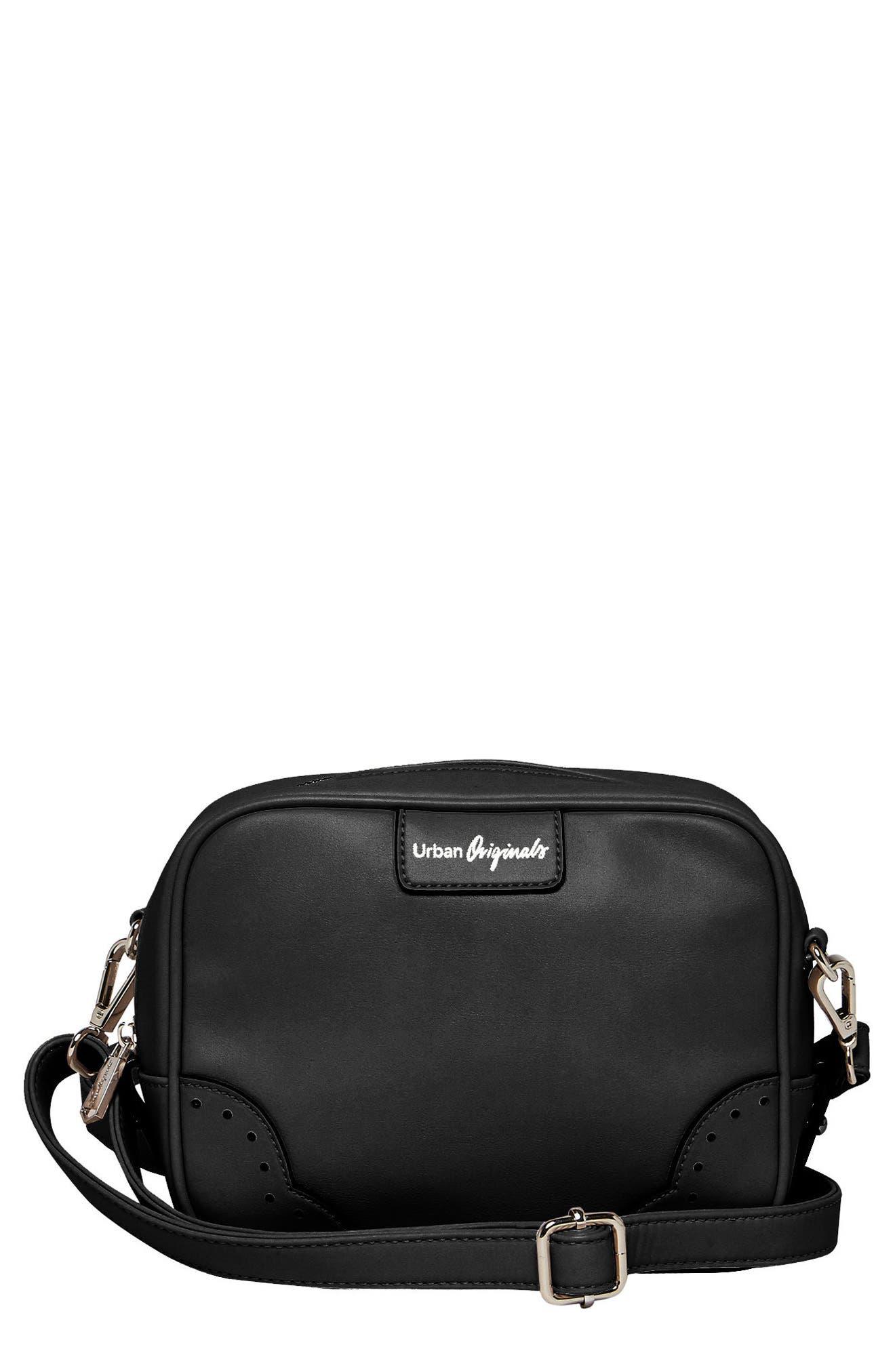 Splendour Vegan Leather Crossbody Bag,                             Main thumbnail 1, color,                             001