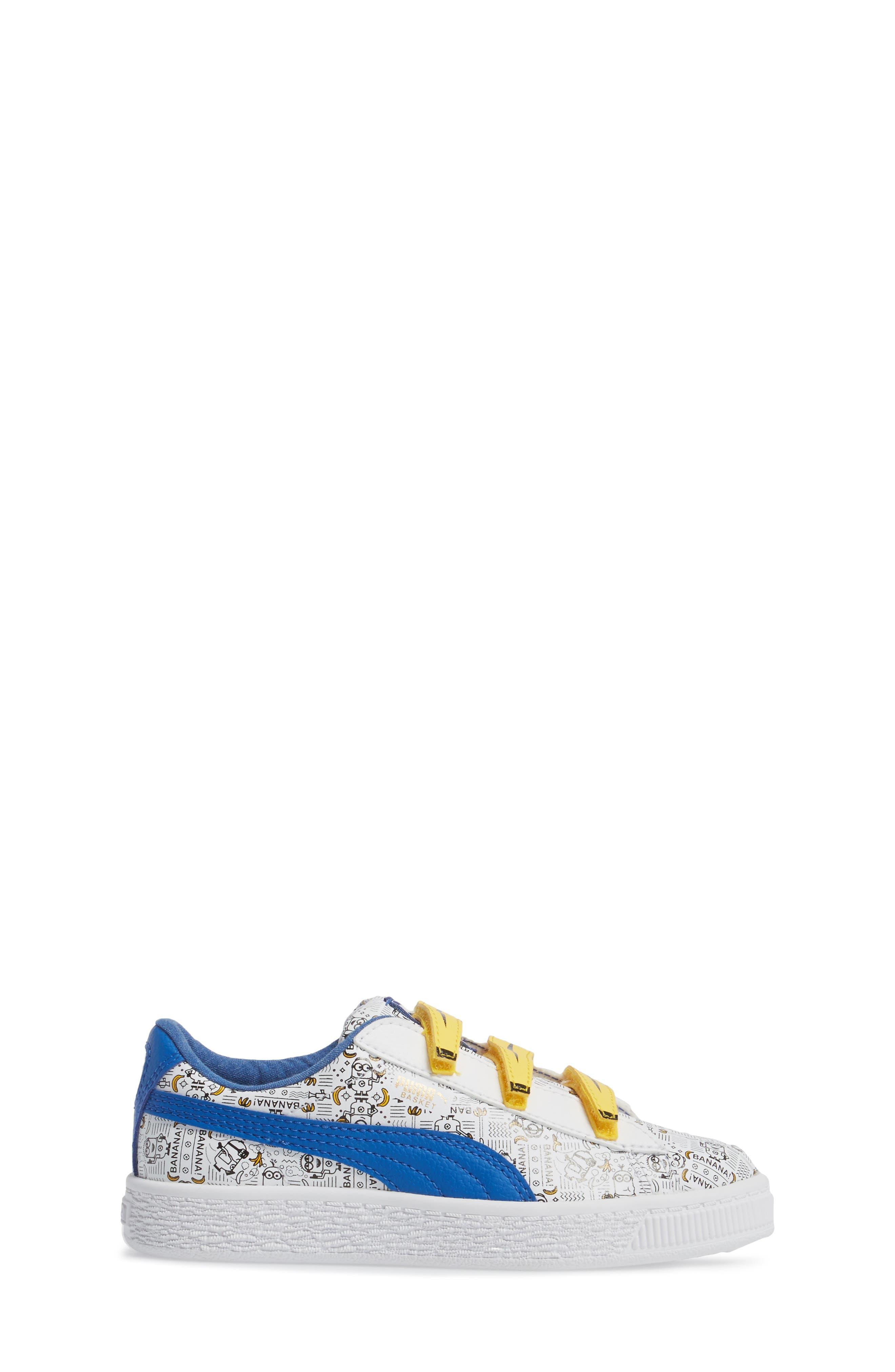 Minions Basket V Sneaker,                             Alternate thumbnail 3, color,                             100