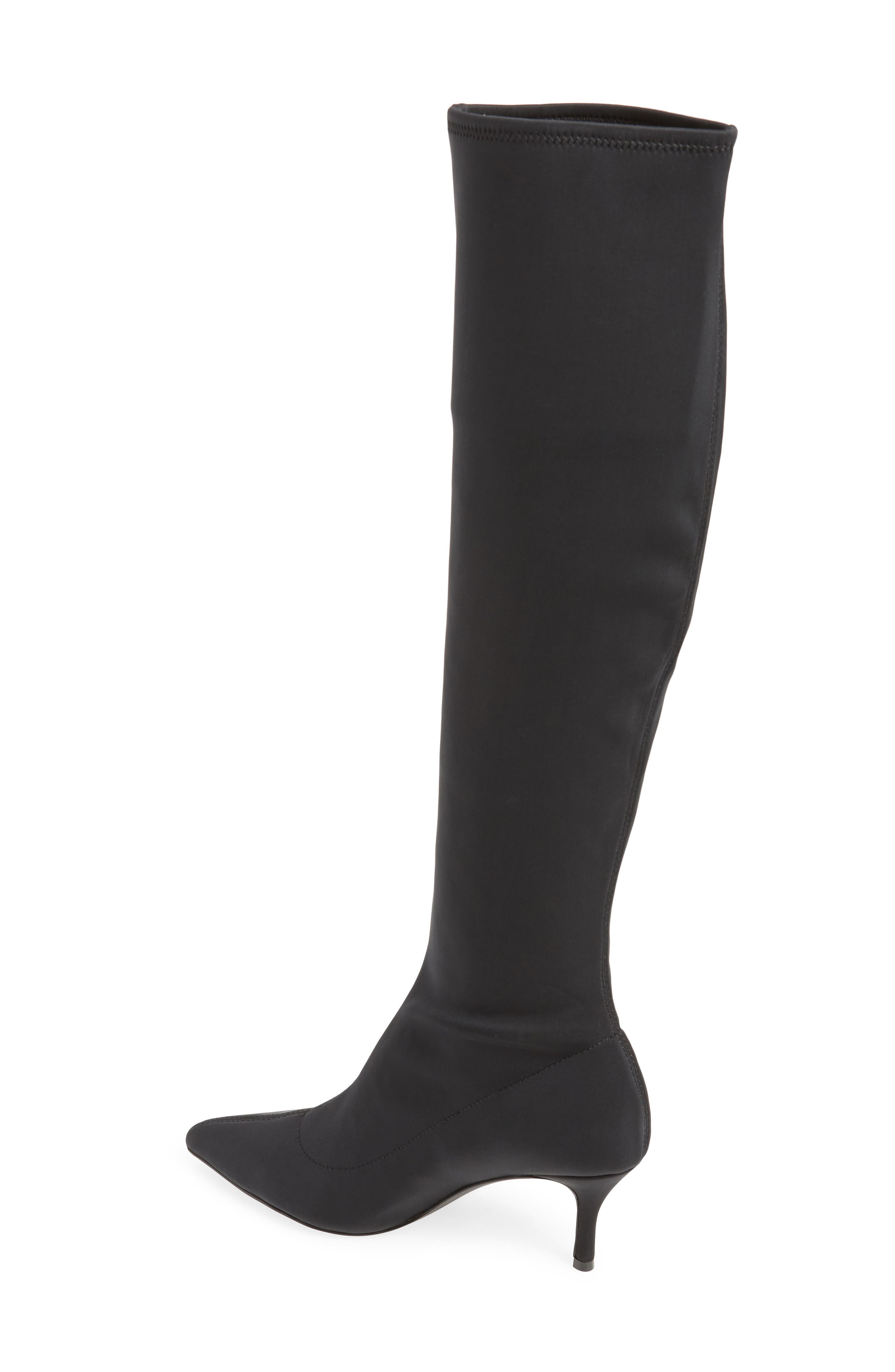 Aerin Over the Knee Boot,                             Alternate thumbnail 2, color,                             BLACK STRETCH SMOOTH