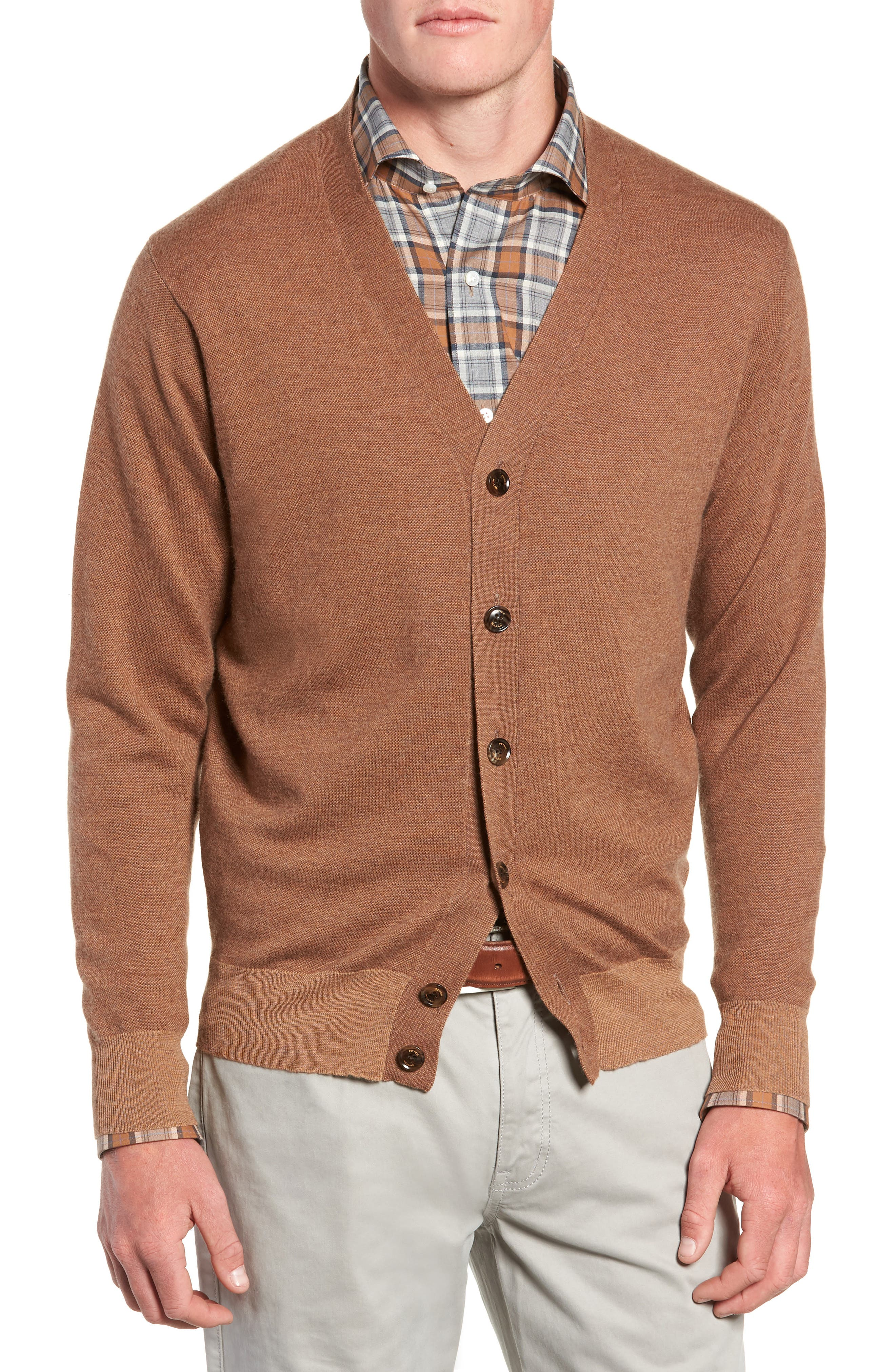 English Manor Cardigan,                             Alternate thumbnail 4, color,                             VICUNA