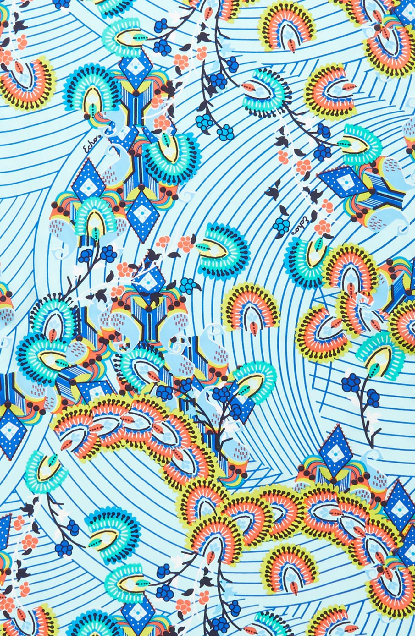 Kingston Silk Scarf,                             Alternate thumbnail 4, color,                             BLUE GROTTO
