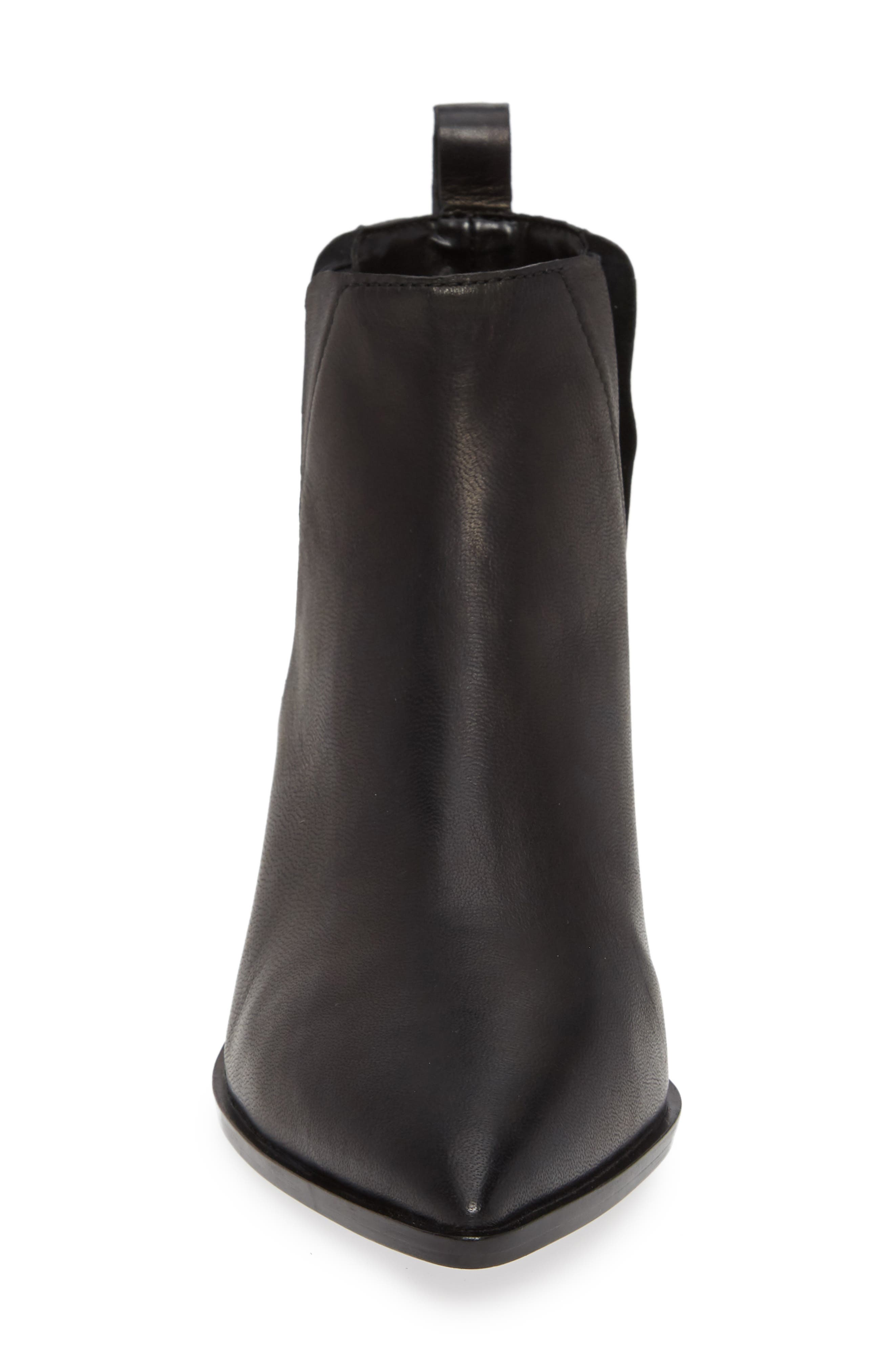 Taylor Bootie,                             Alternate thumbnail 4, color,                             BLACK LEATHER