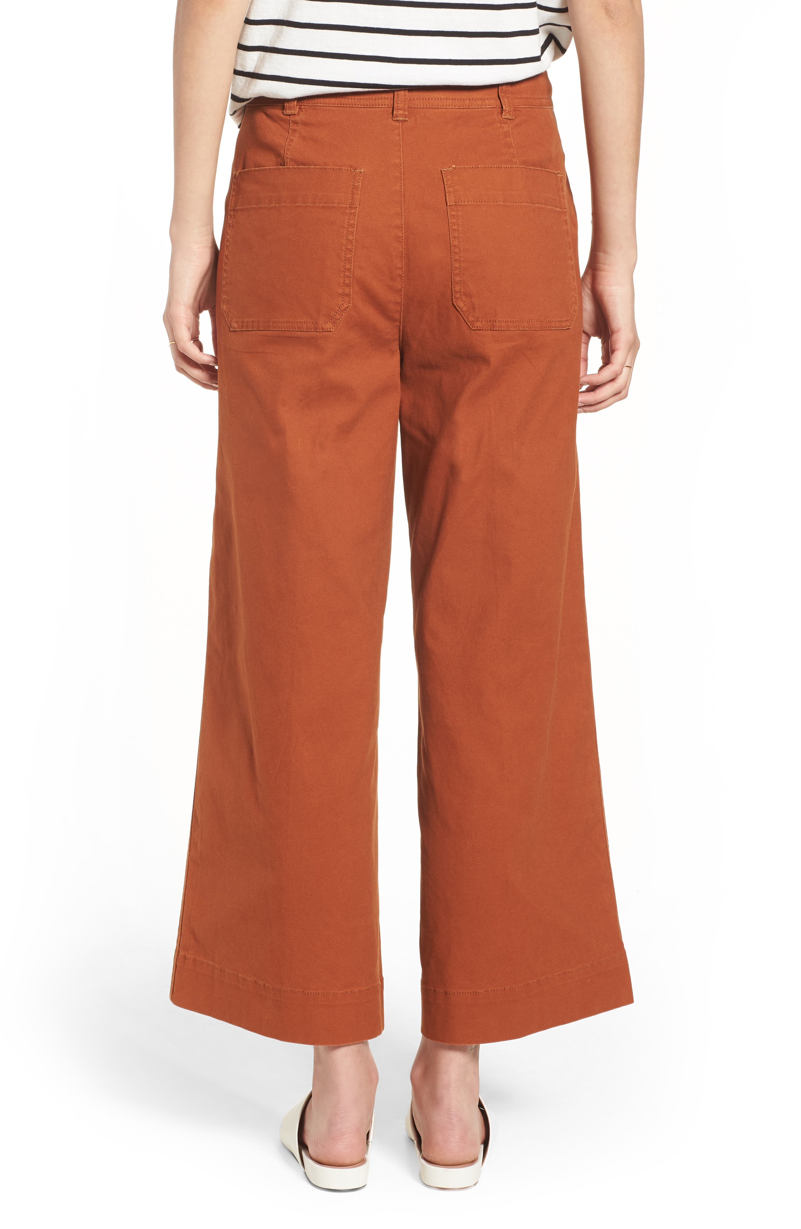 Emmett Crop Wide Leg Pants,                             Alternate thumbnail 6, color,