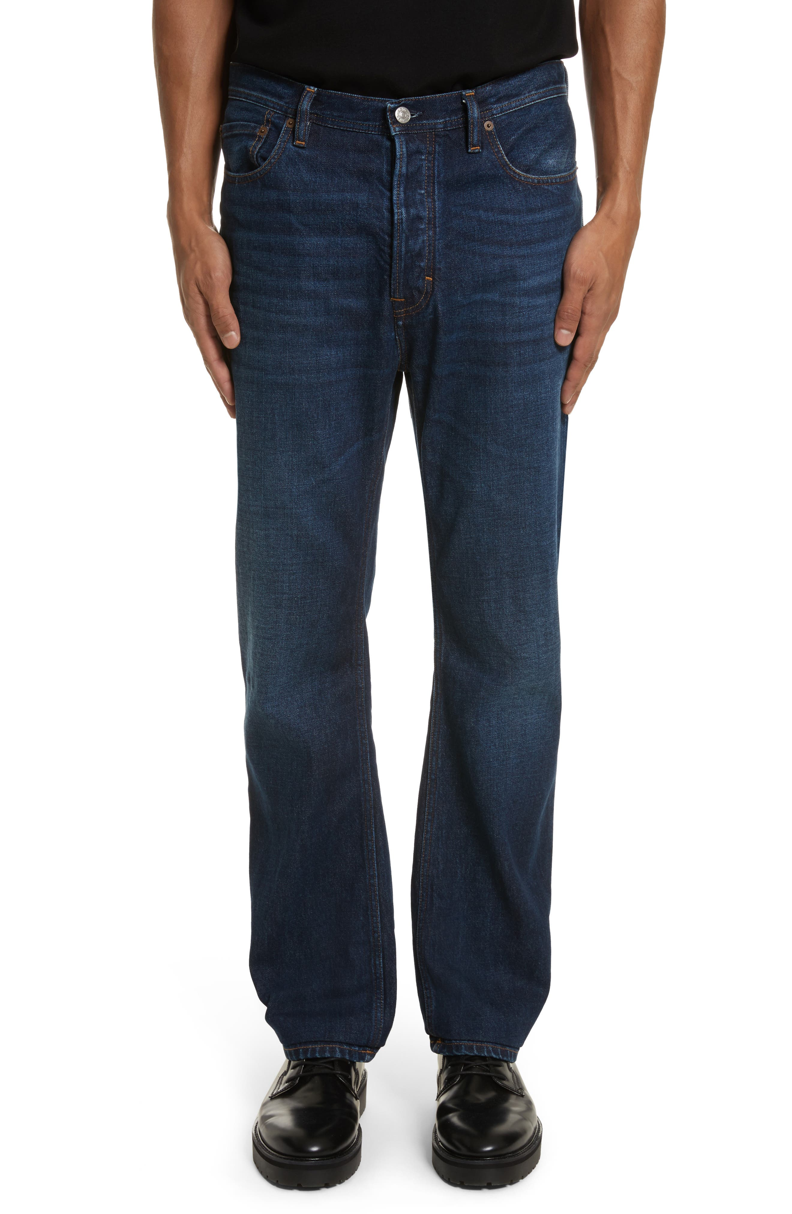 Land Classic Straight Leg Jeans,                             Main thumbnail 1, color,                             123 DK BLUE