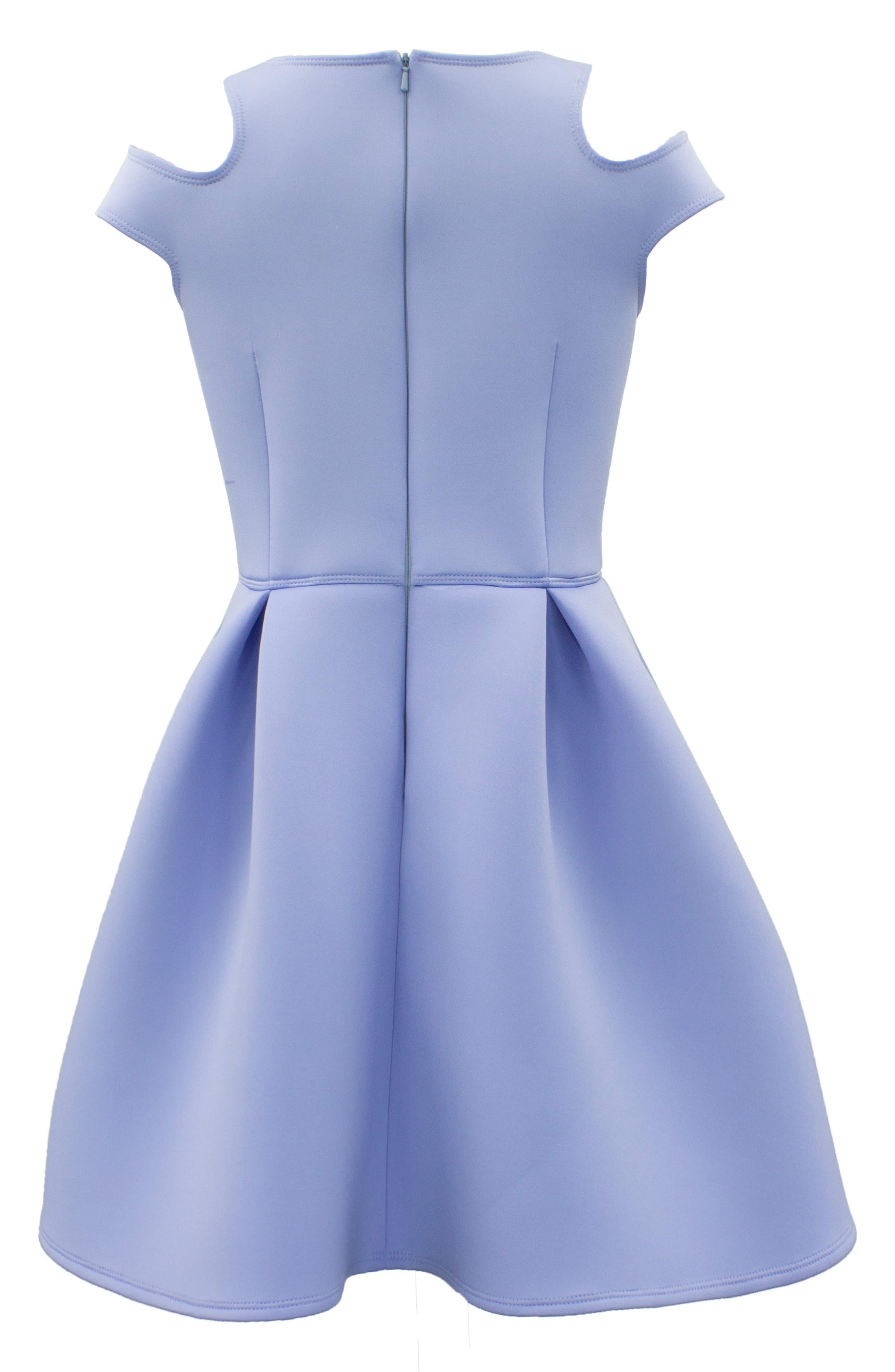 Cold Shoulder Scuba Dress,                             Alternate thumbnail 2, color,                             420