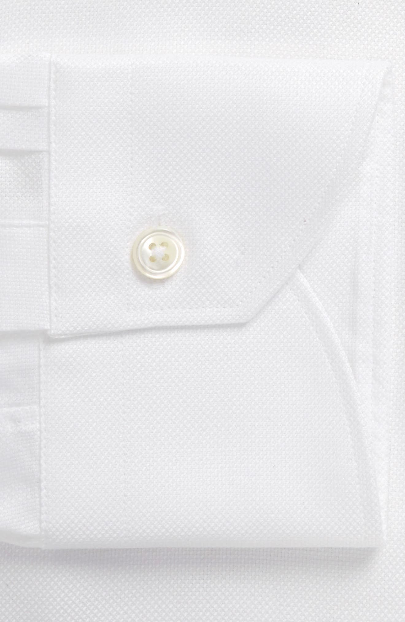 Trim Fit Solid Dress Shirt,                         Main,                         color, WHITE