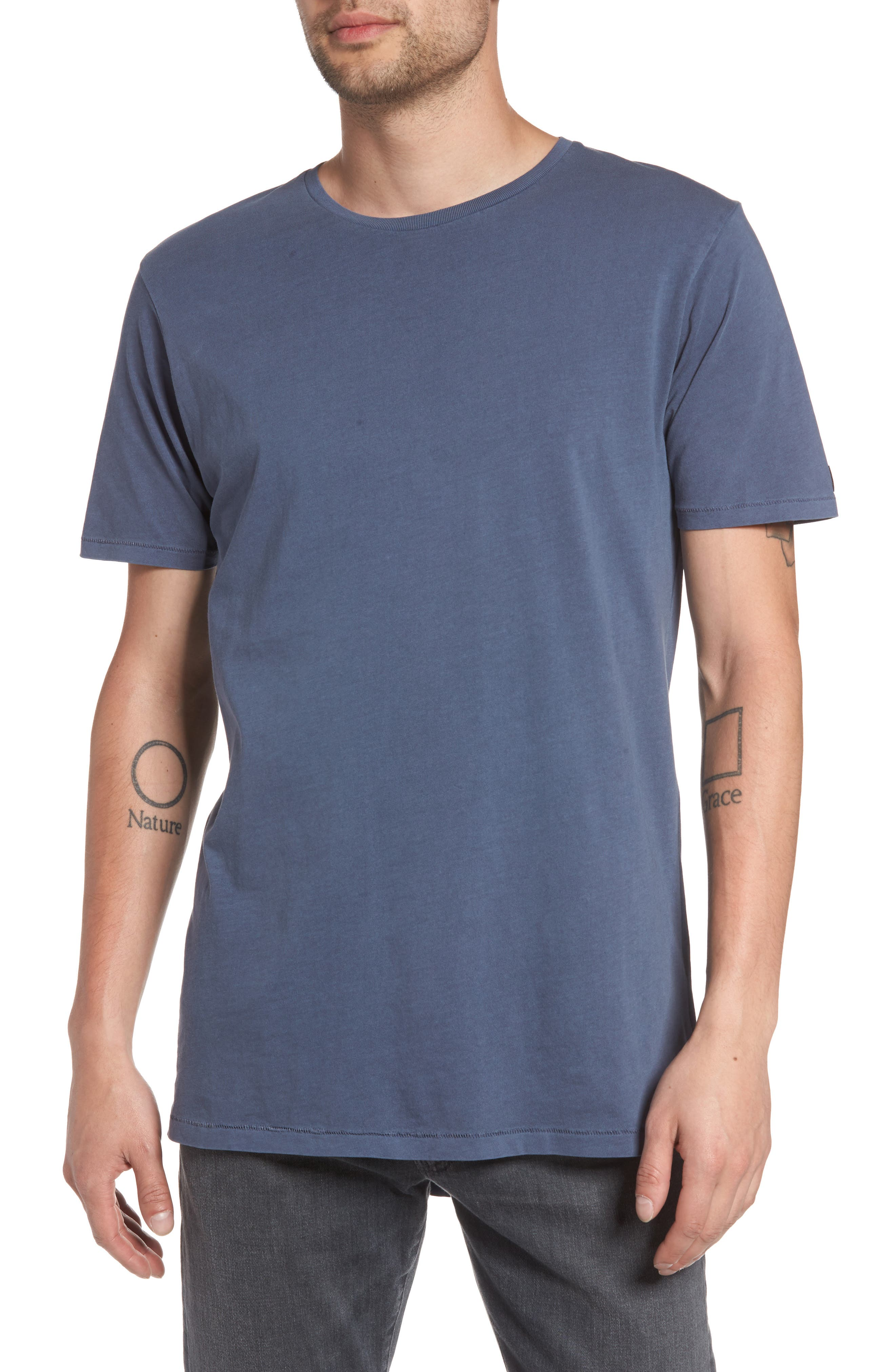 Flintlock Stripe T-Shirt,                             Main thumbnail 1, color,                             PIGMENT BLUE GREY