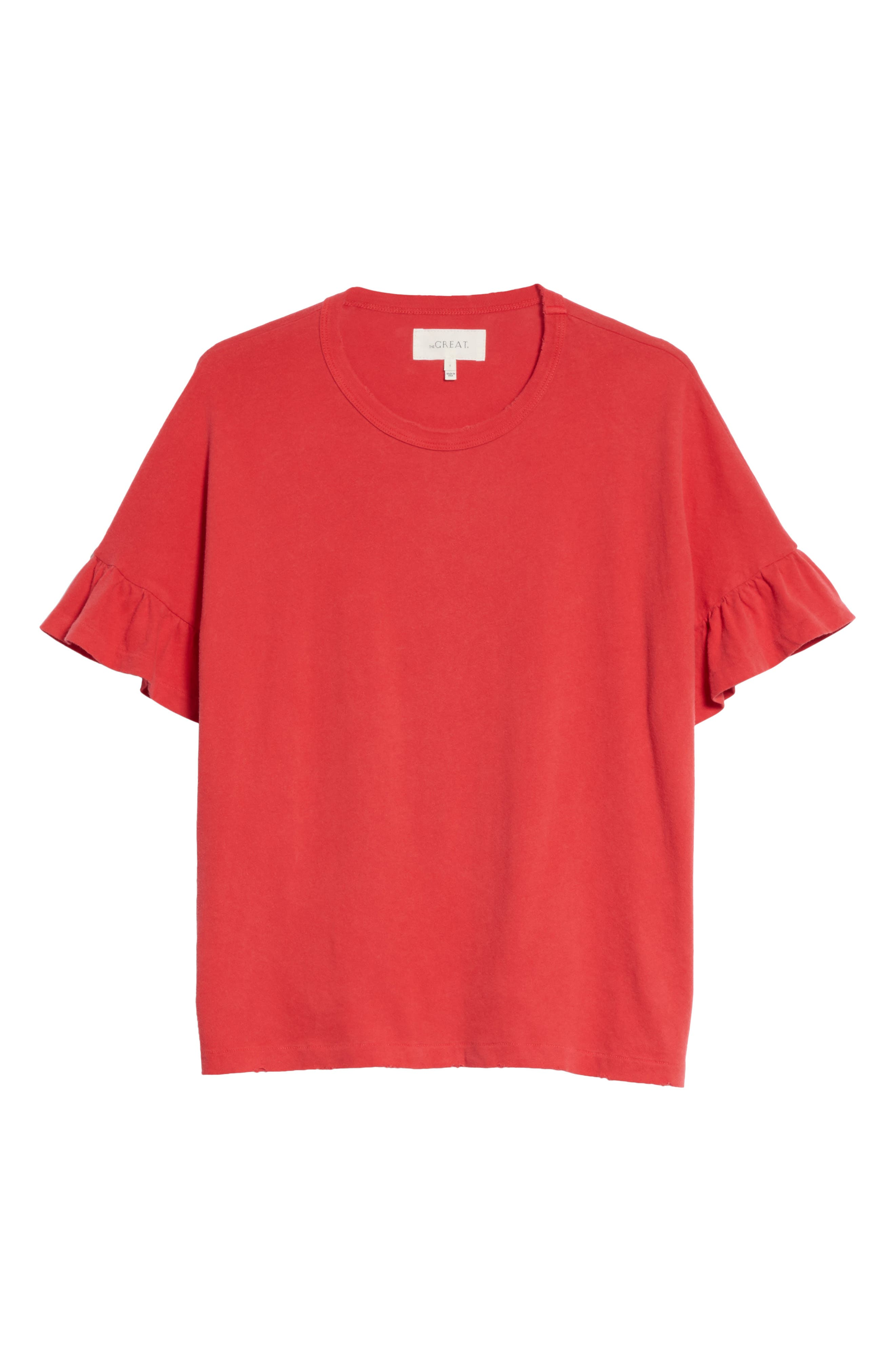 The Ruffle Sleeve Tee,                             Alternate thumbnail 6, color,                             600
