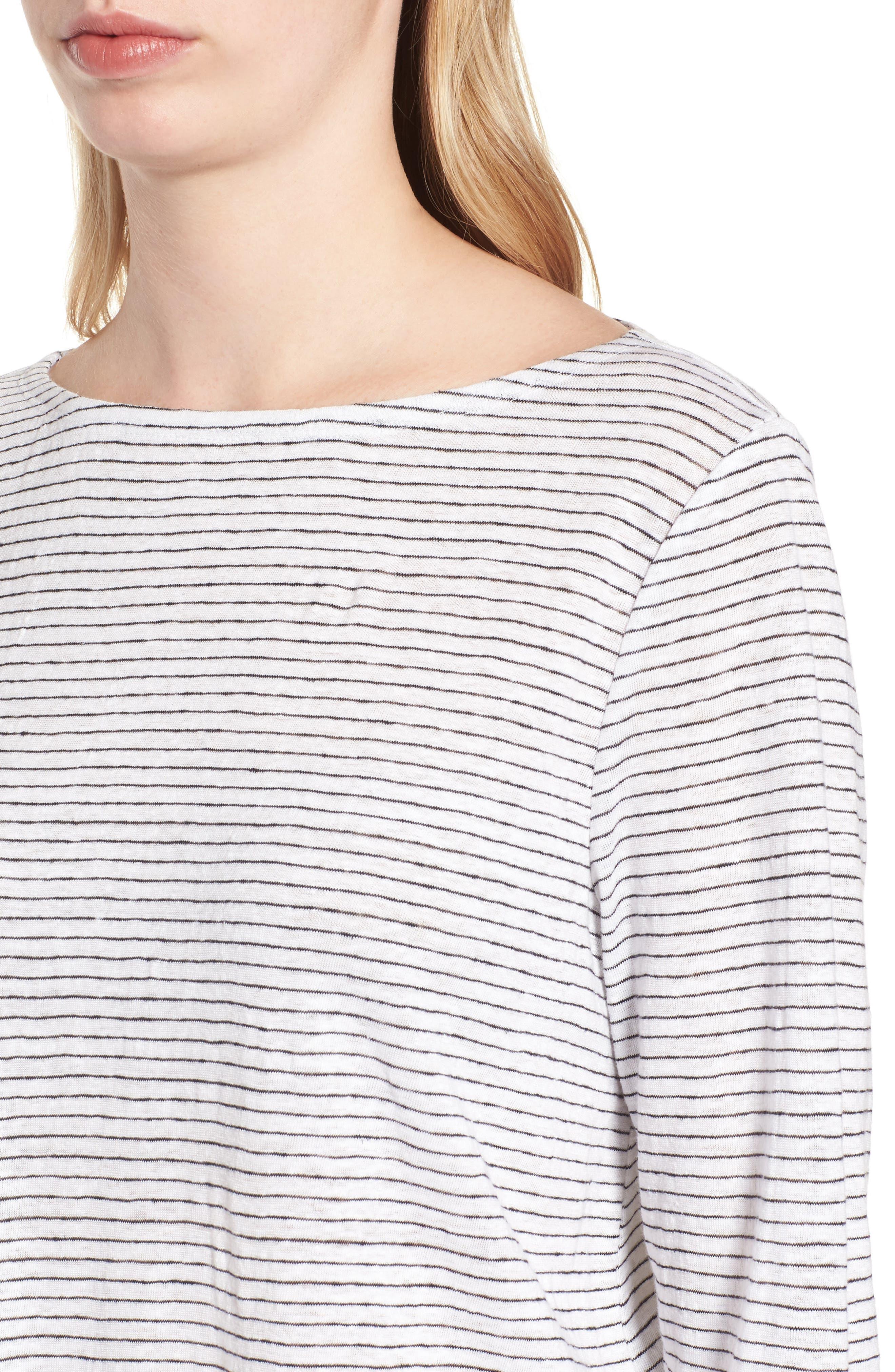 Organic Linen Tunic,                             Alternate thumbnail 4, color,                             120