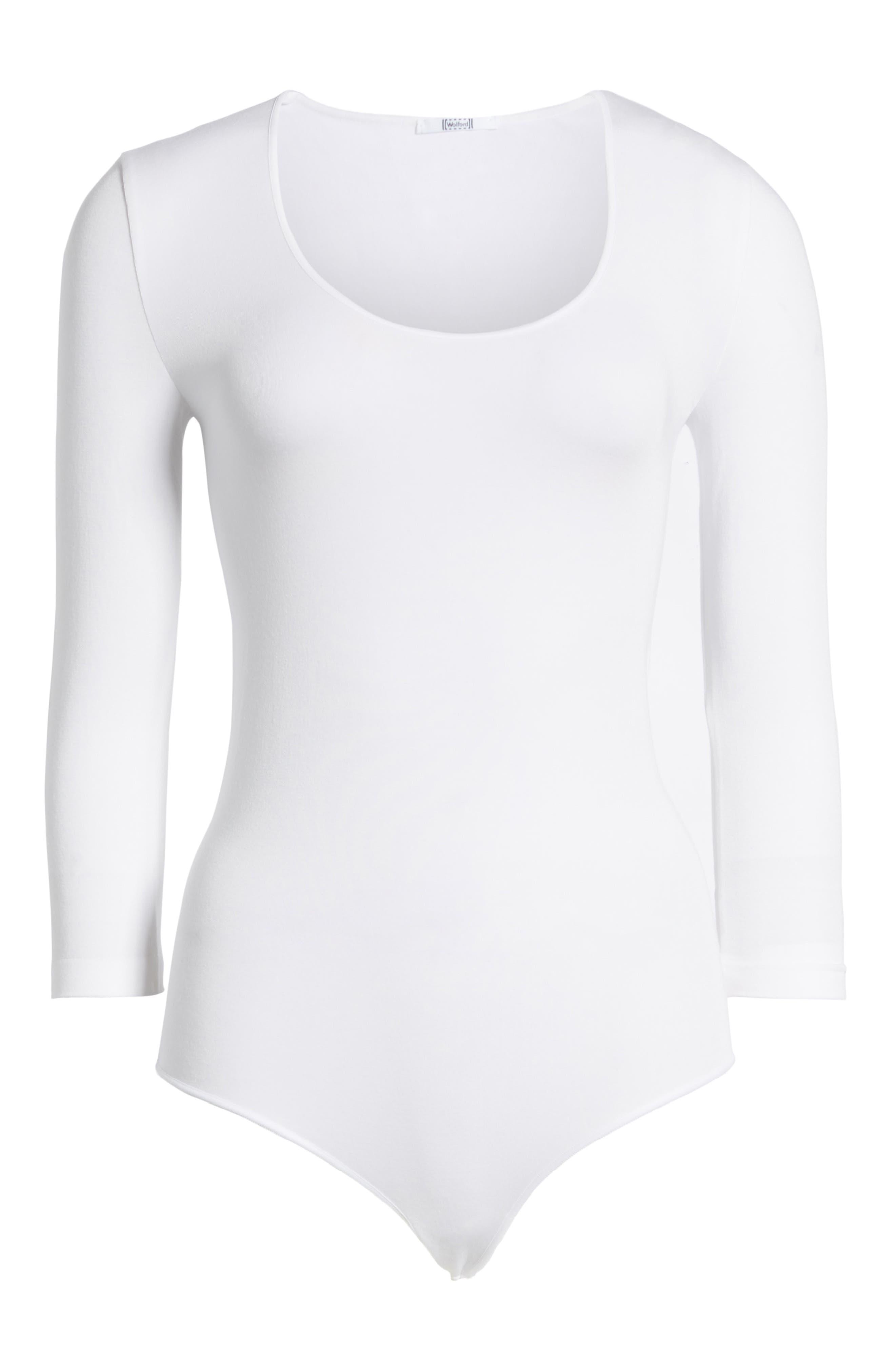 Tokio Thong Bodysuit,                             Alternate thumbnail 5, color,                             WHITE