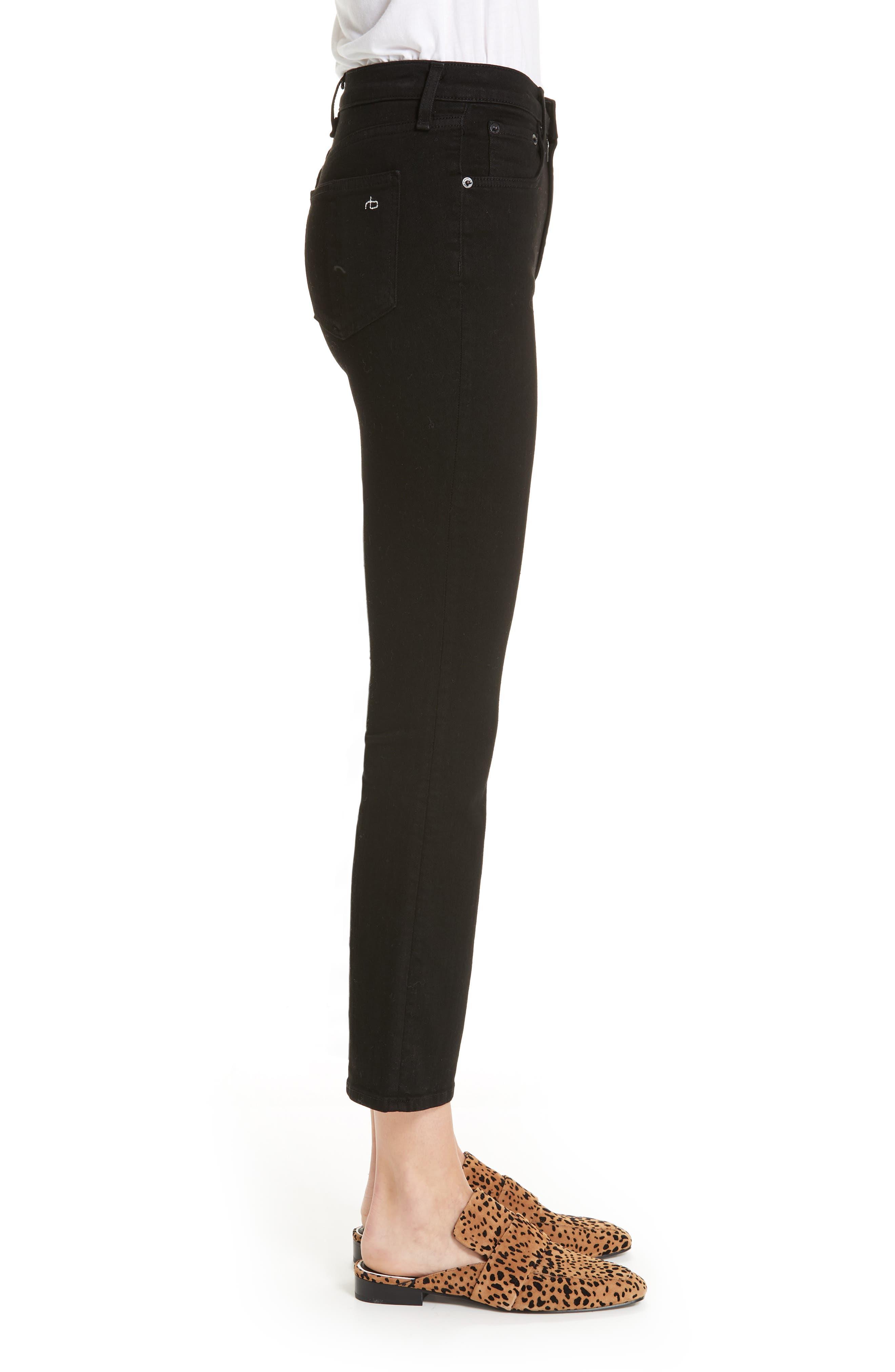 RAG & BONE,                             Hana High Waist Ankle Flare Jeans,                             Alternate thumbnail 3, color,                             001