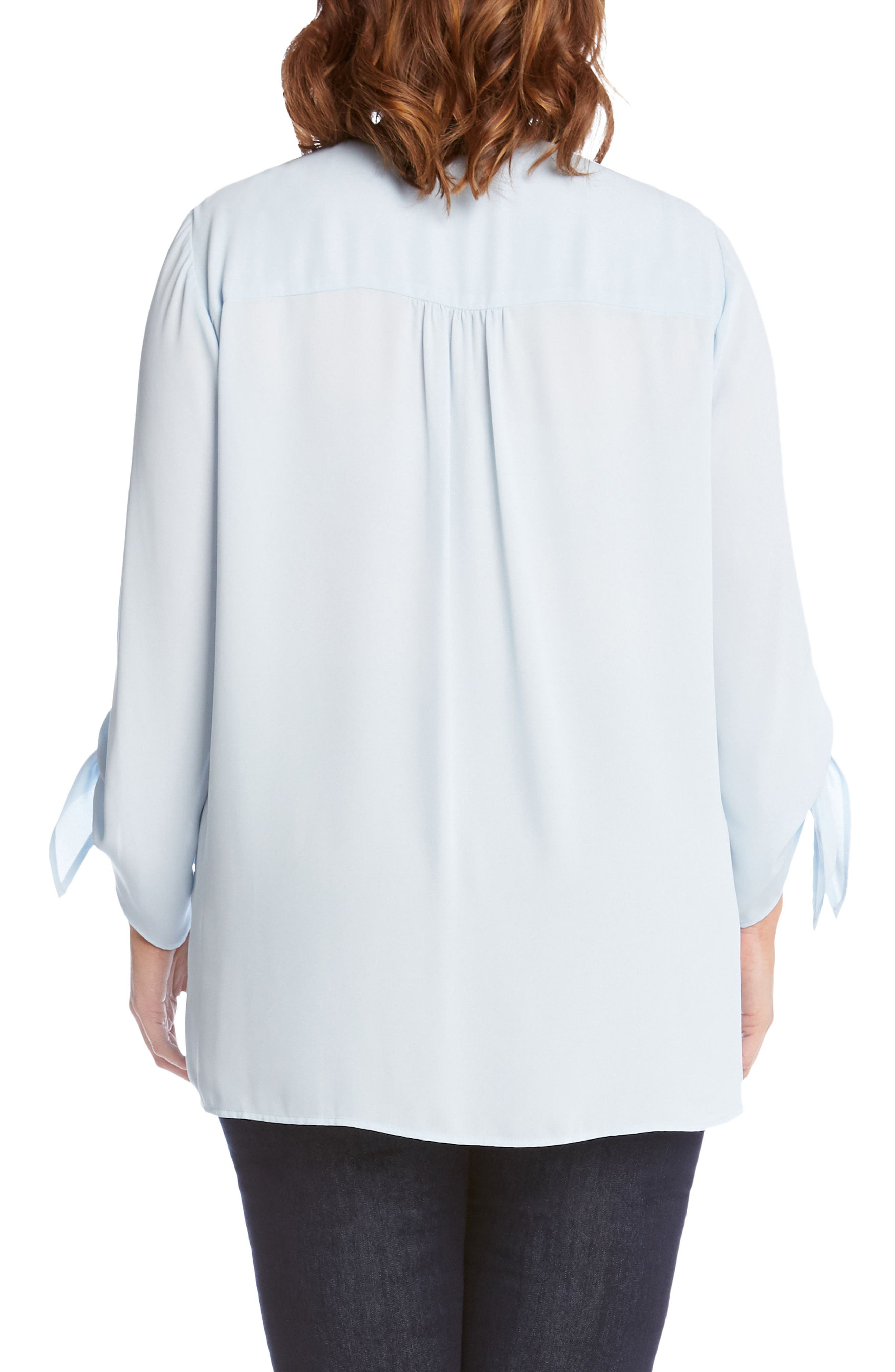 Crossover Tie Sleeve Top,                             Alternate thumbnail 4, color,