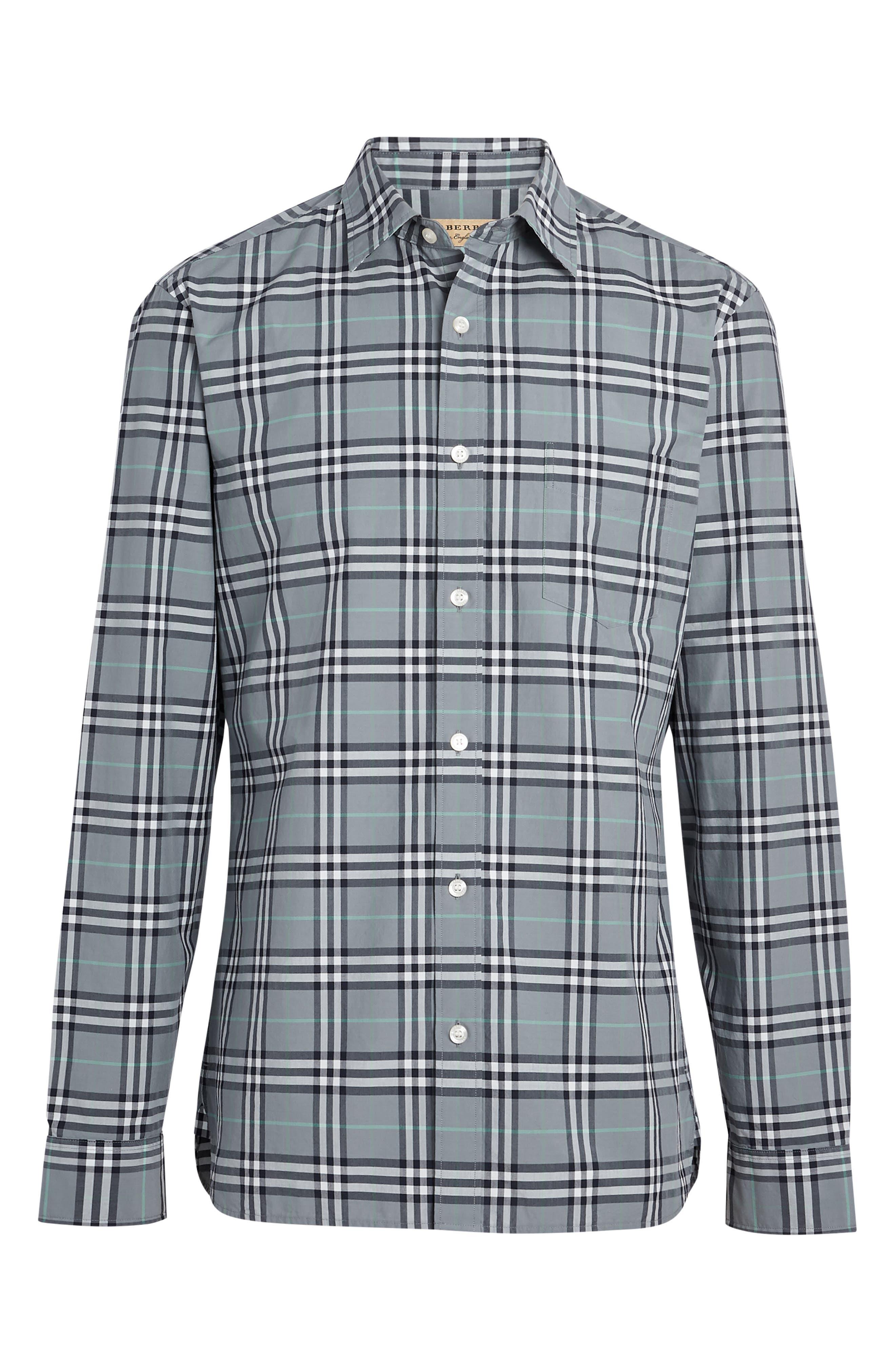 Alexander Check Sport Shirt,                             Alternate thumbnail 4, color,                             400