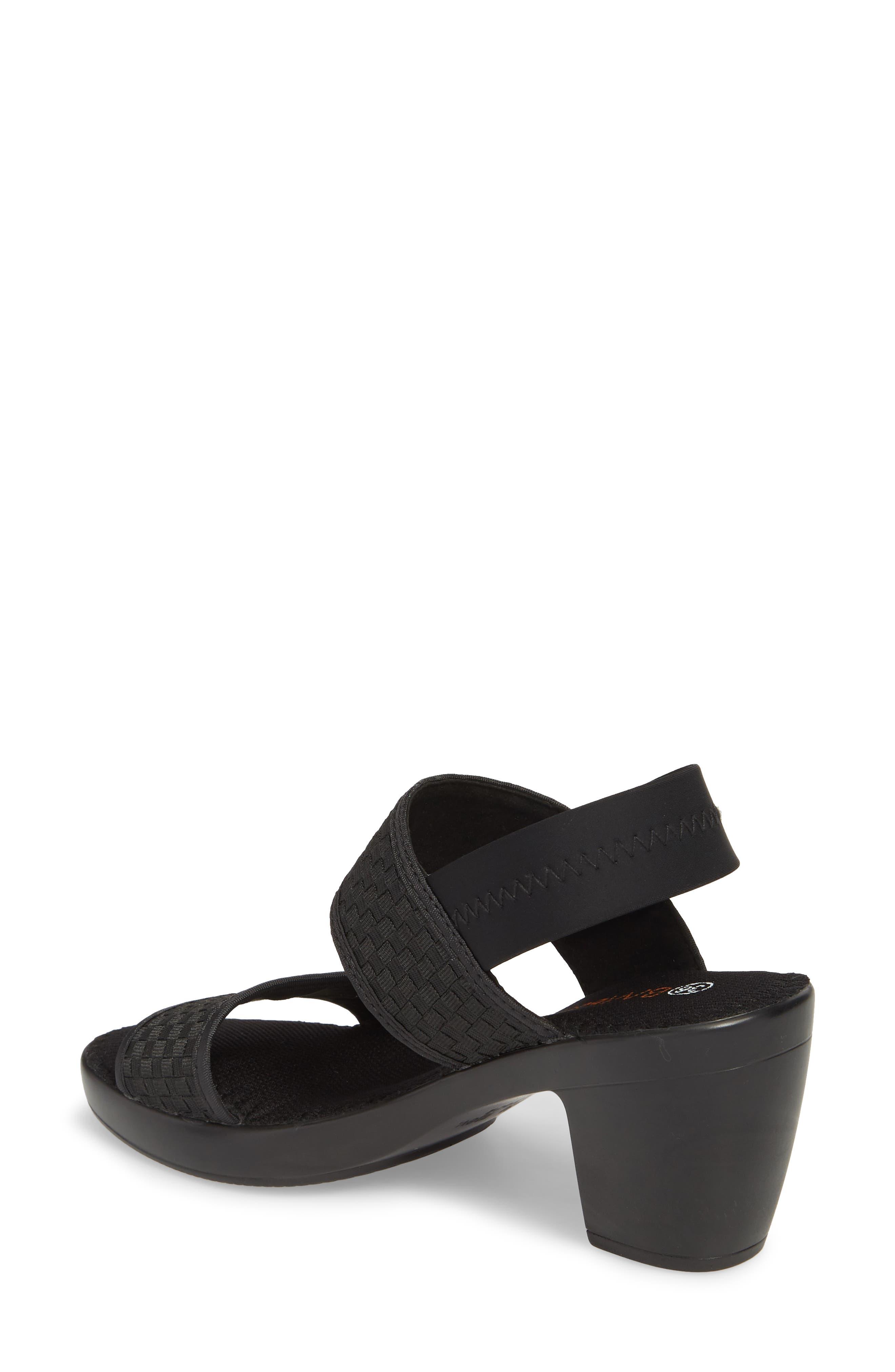 Santorini Sandal,                             Alternate thumbnail 2, color,                             BLACK FABRIC