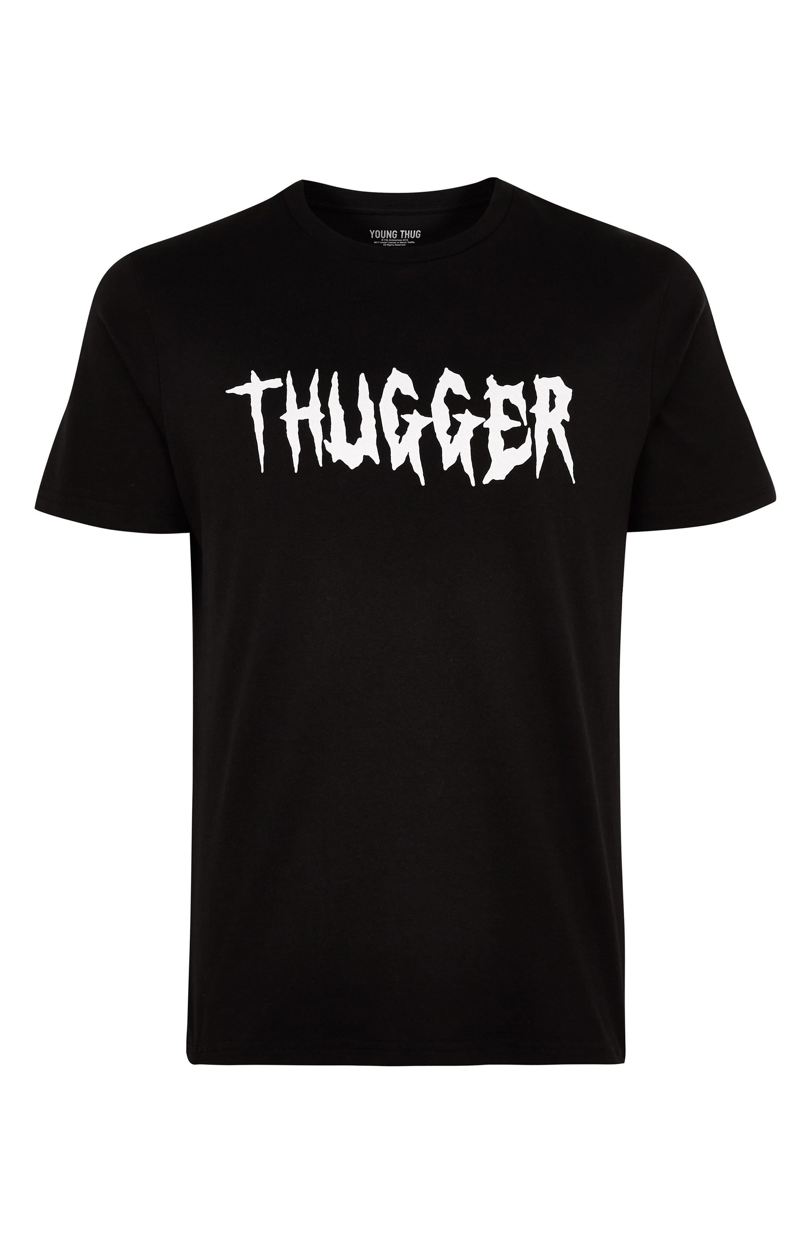 Thugger Graphic T-Shirt,                             Alternate thumbnail 4, color,                             001
