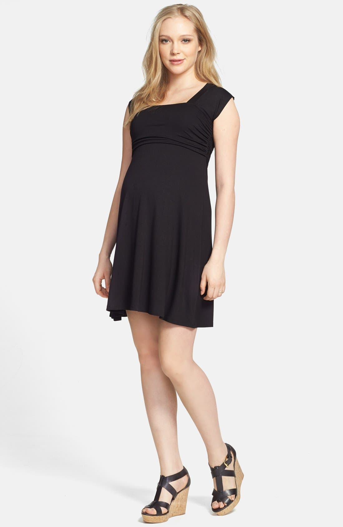 'Mini Sweetheart' Dress,                         Main,                         color, BLACK