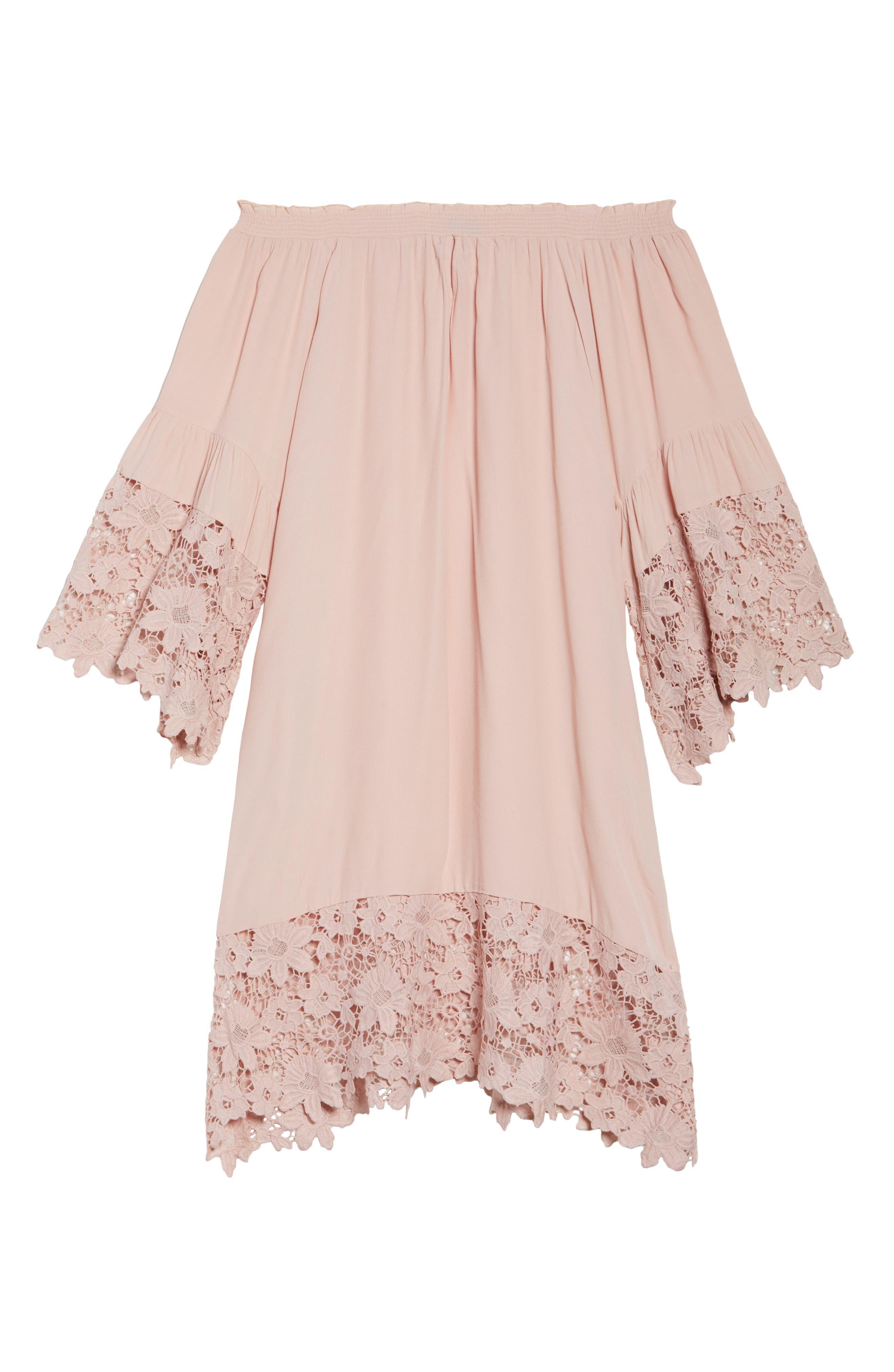Jolie Lace Accent Cover-Up Dress,                             Alternate thumbnail 15, color,