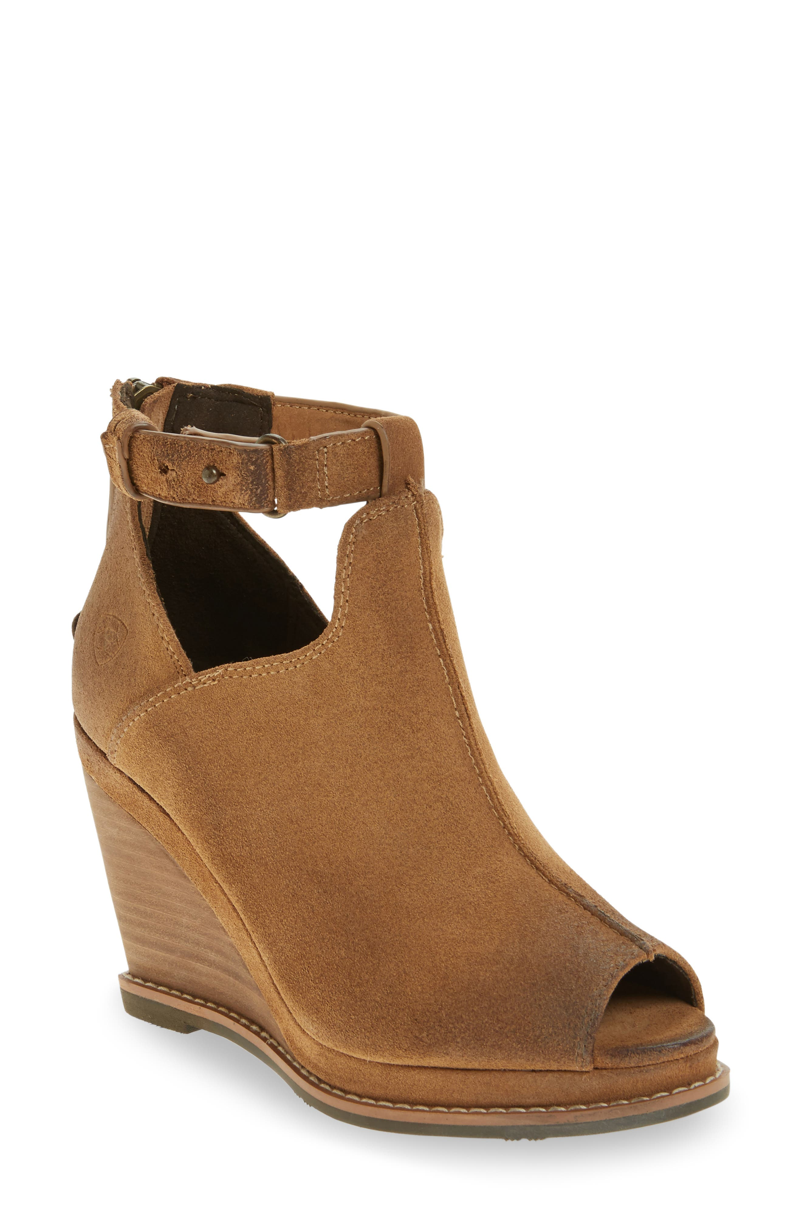 Backstage Wedge Bootie,                             Main thumbnail 2, color,