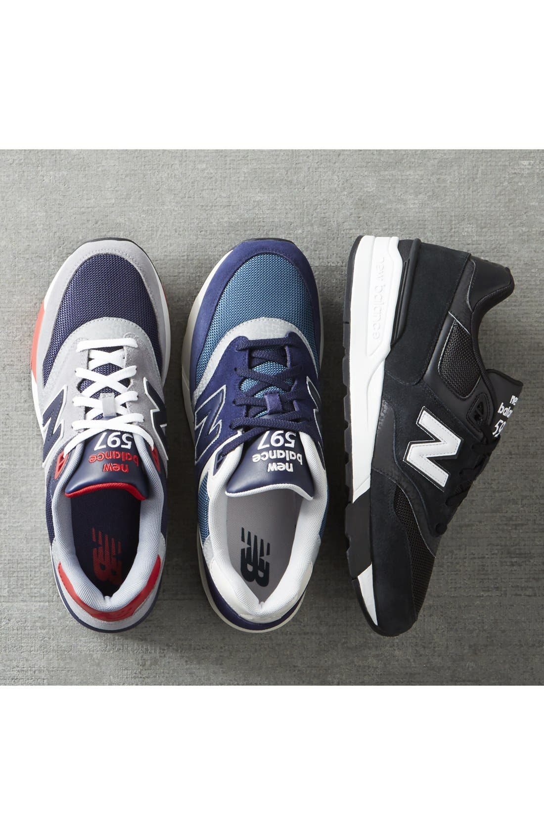 '597' Sneaker,                             Alternate thumbnail 5, color,                             001