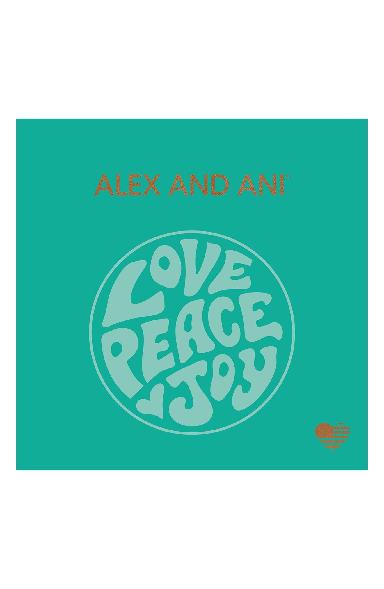 Love Peace Joy Bangle,                             Alternate thumbnail 4, color,                             710