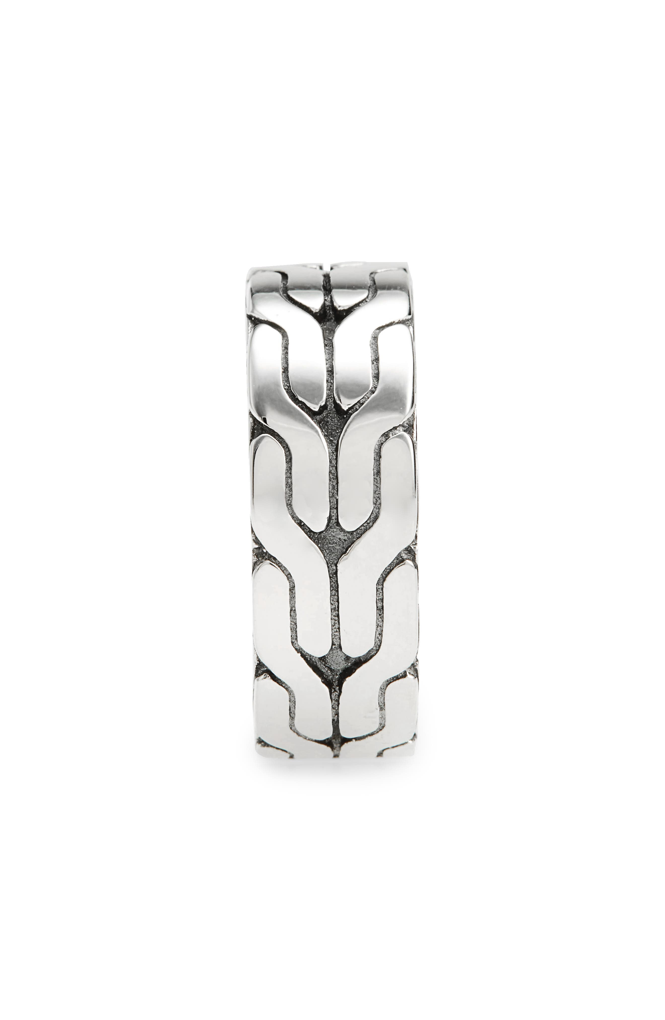 Classic Chain Band Ring,                             Alternate thumbnail 2, color,                             SILVER