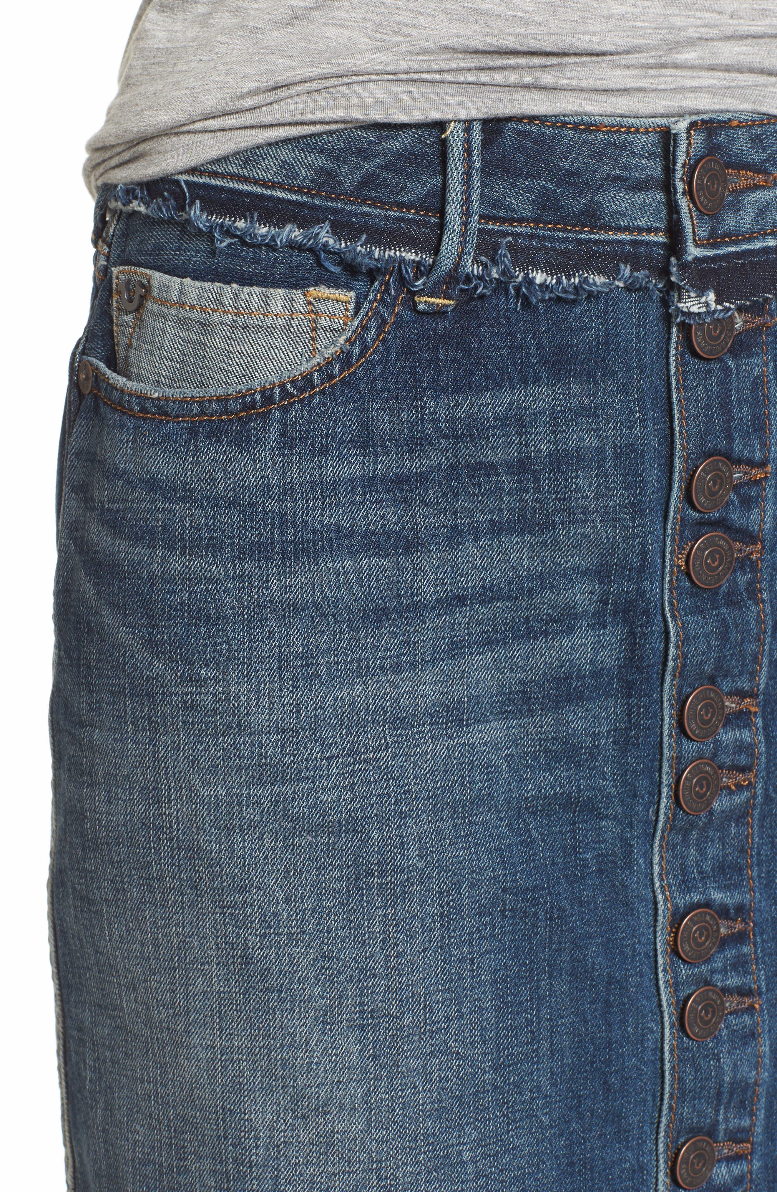 Deconstructed Denim Skirt,                             Alternate thumbnail 4, color,                             401