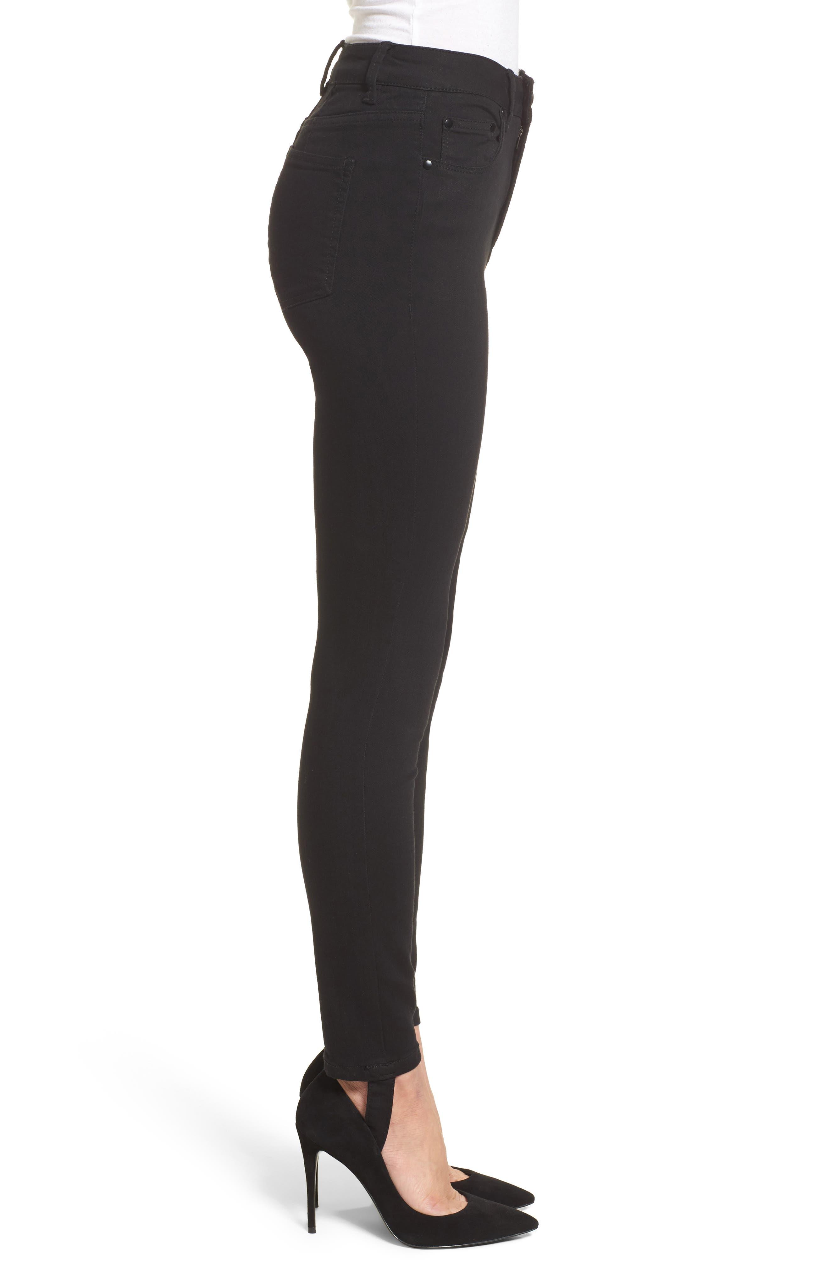 Luma High Waist Skinny Stirrup Jeans,                             Alternate thumbnail 3, color,                             002