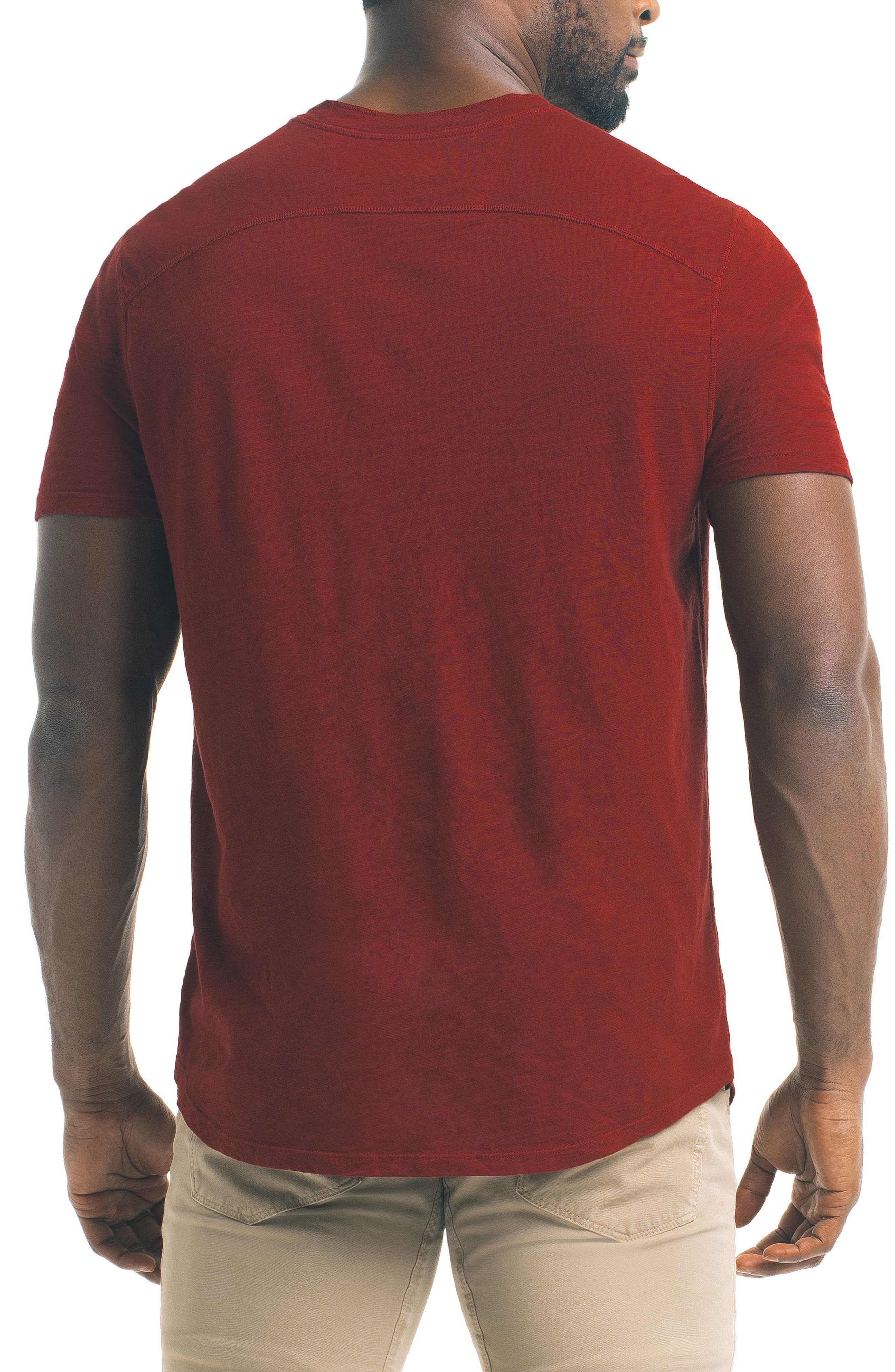 Short Sleeve Slub Henley,                             Alternate thumbnail 12, color,