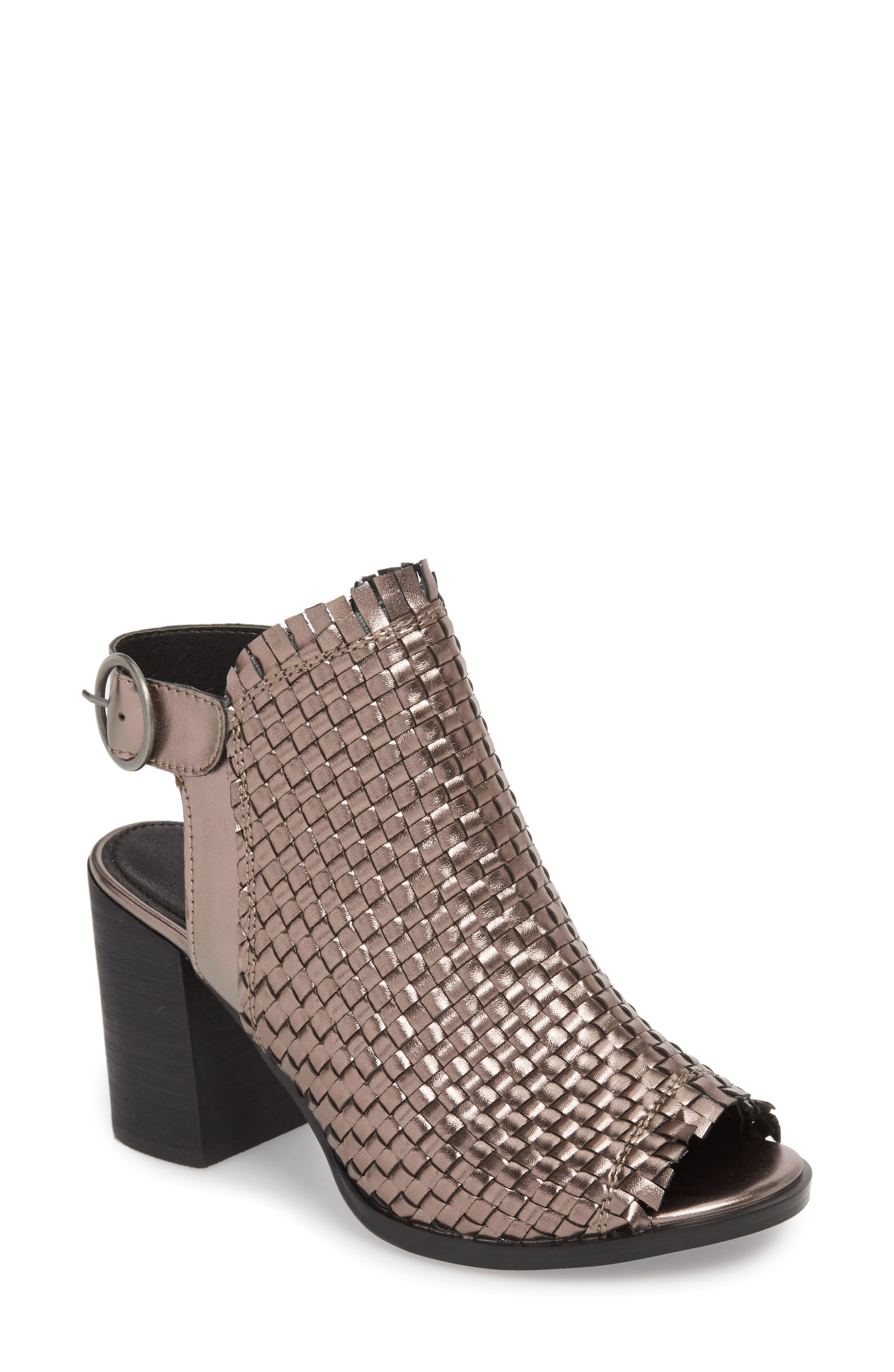 Starla Woven Sandal,                         Main,                         color, PEWTER