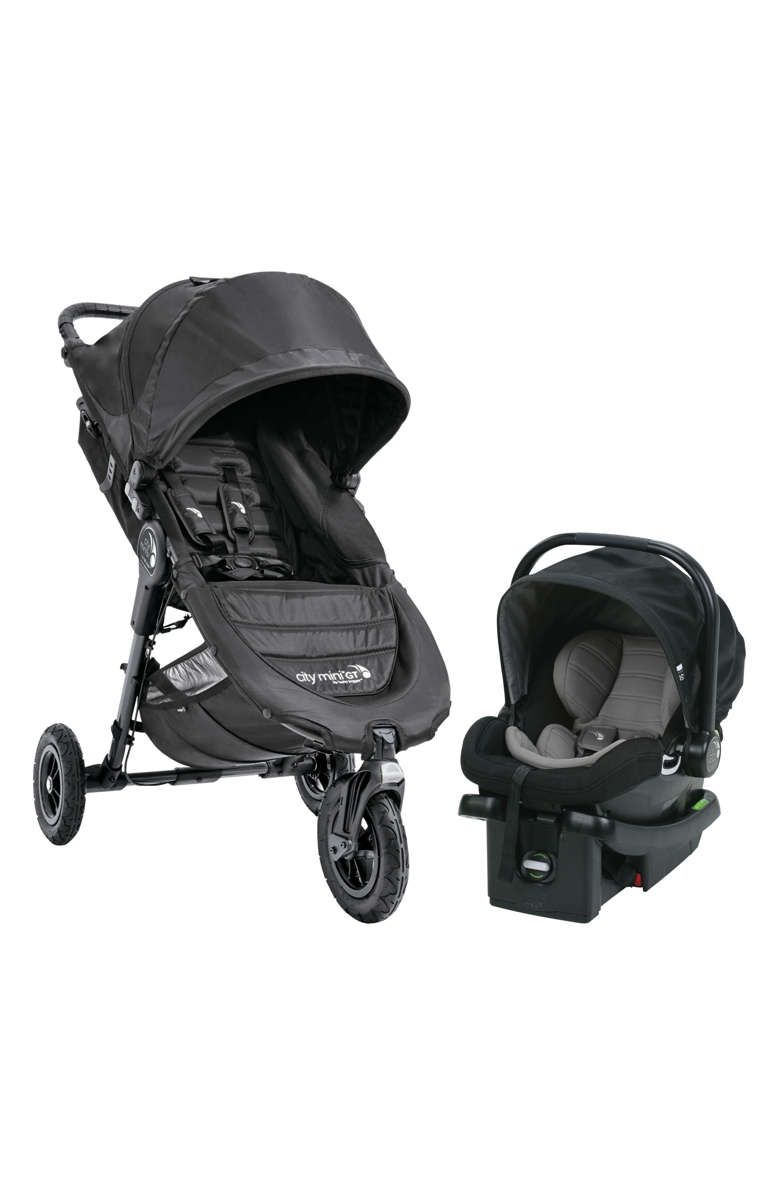 City Mini Single Stroller & City Go Infant Car Seat Travel System,                             Main thumbnail 1, color,                             BLACK