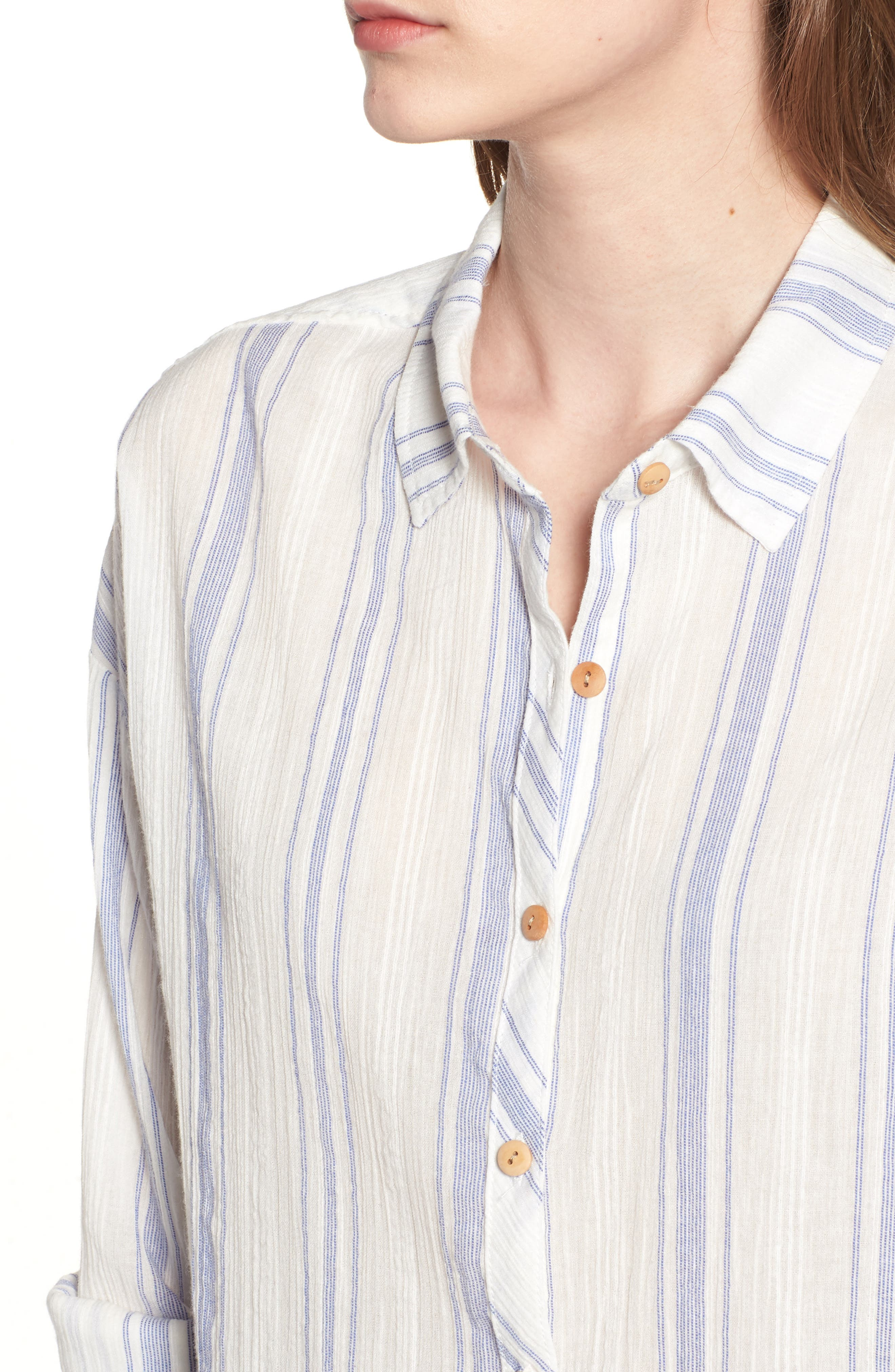 Alani Stripe Woven Shirt,                             Alternate thumbnail 4, color,